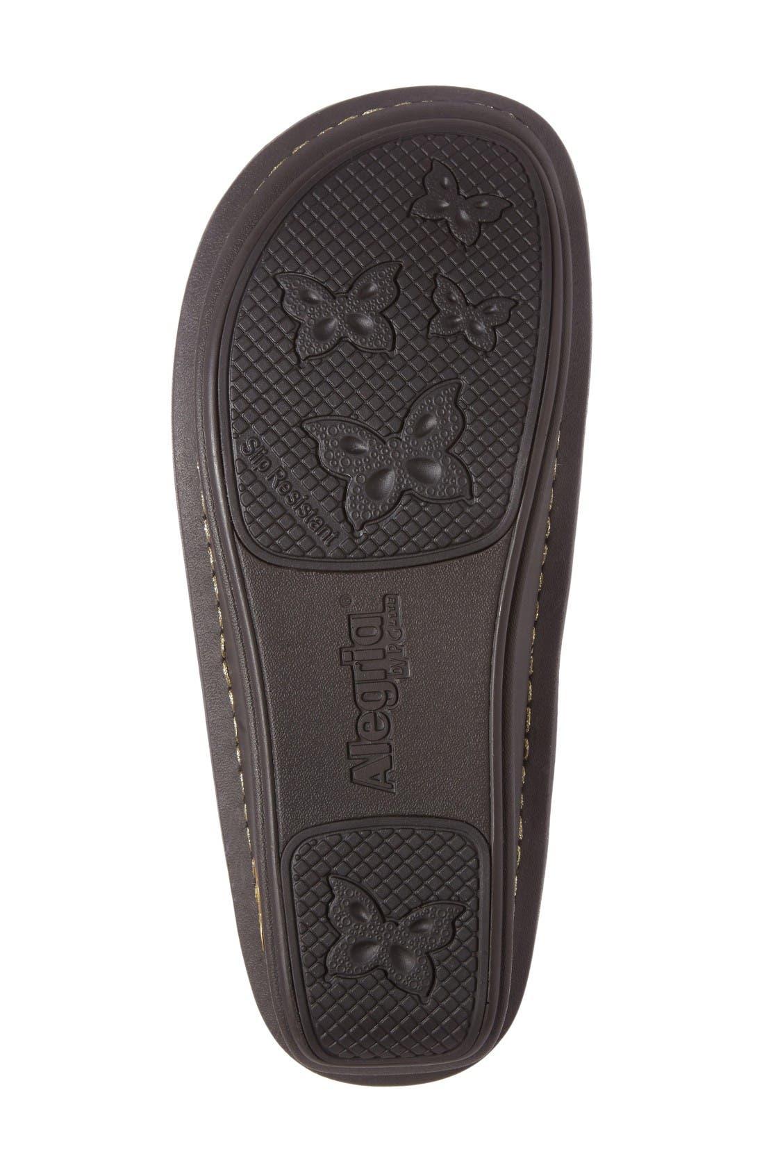'Jemma' Platform Flat,                             Alternate thumbnail 4, color,                             Hickory Leather