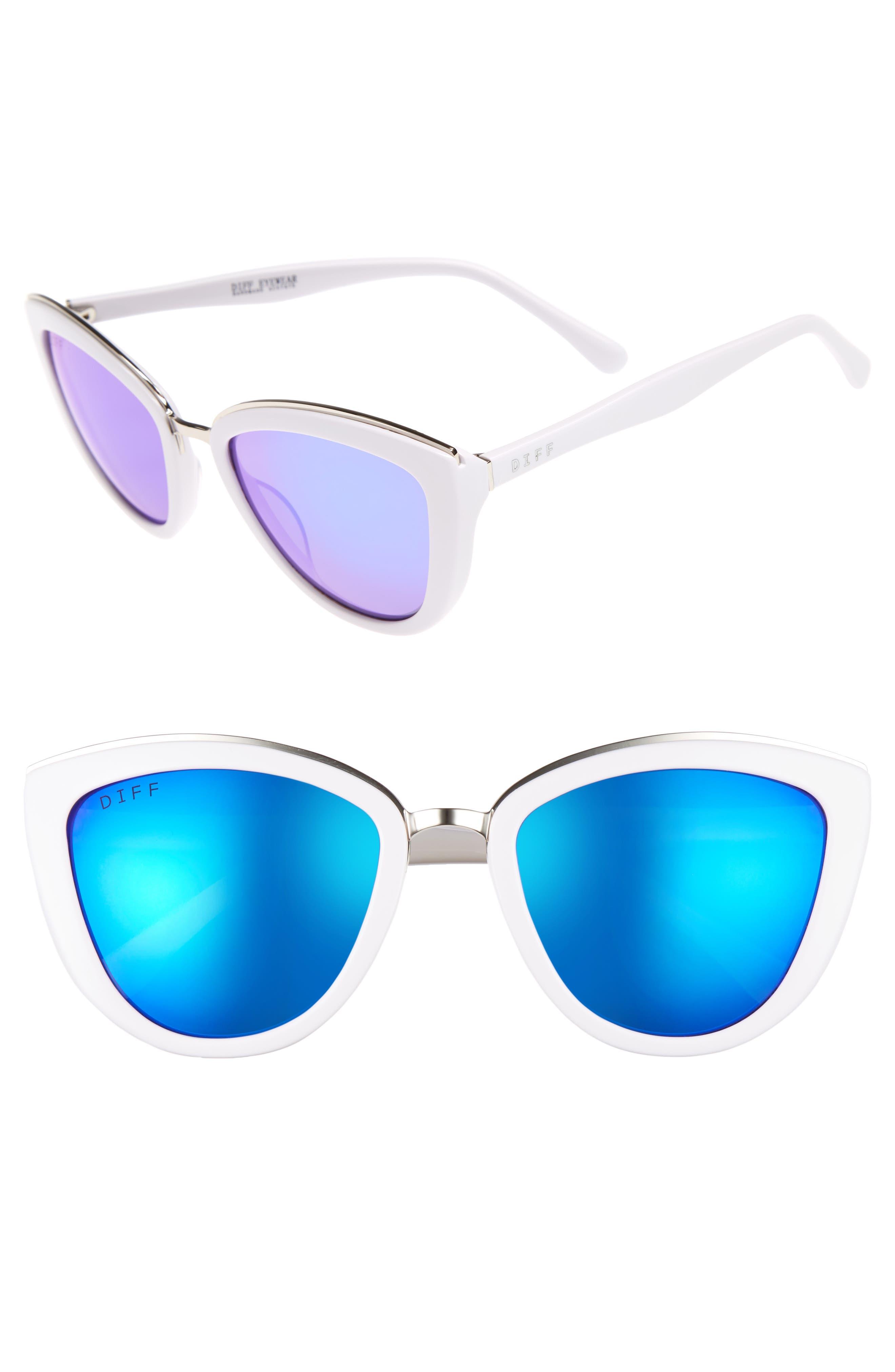 DIFF Rose 56mm Cat Eye Sunglasses