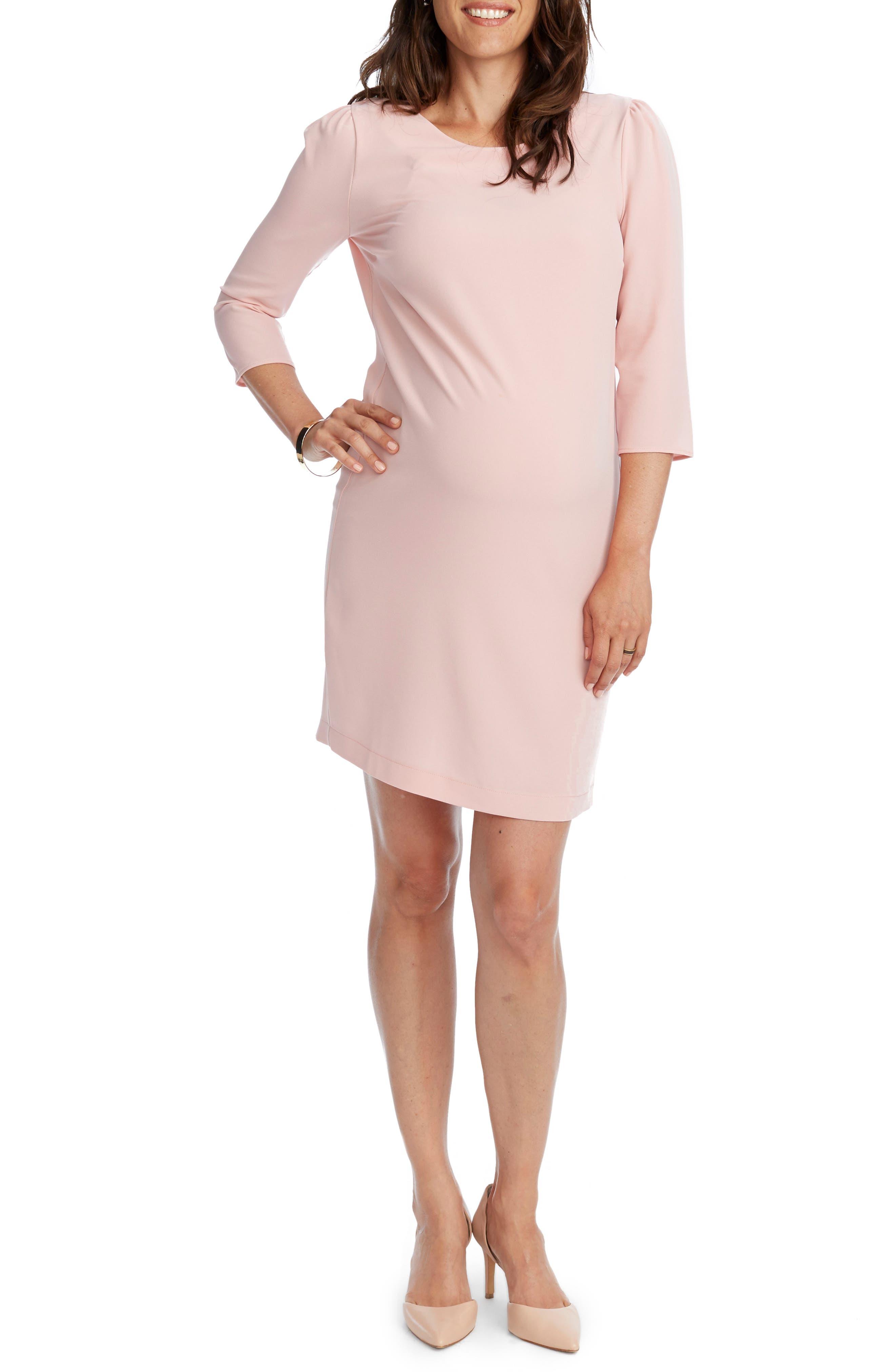 Cammie Maternity Shift Dress,                         Main,                         color, Blush