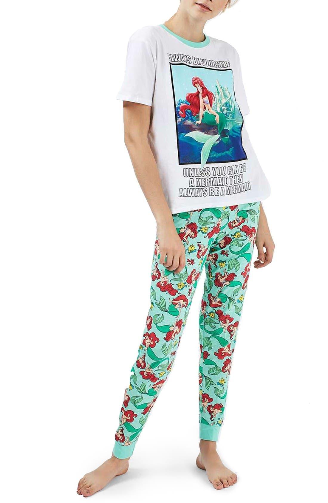 Alternate Image 1 Selected - Topshop Ariel Pajamas