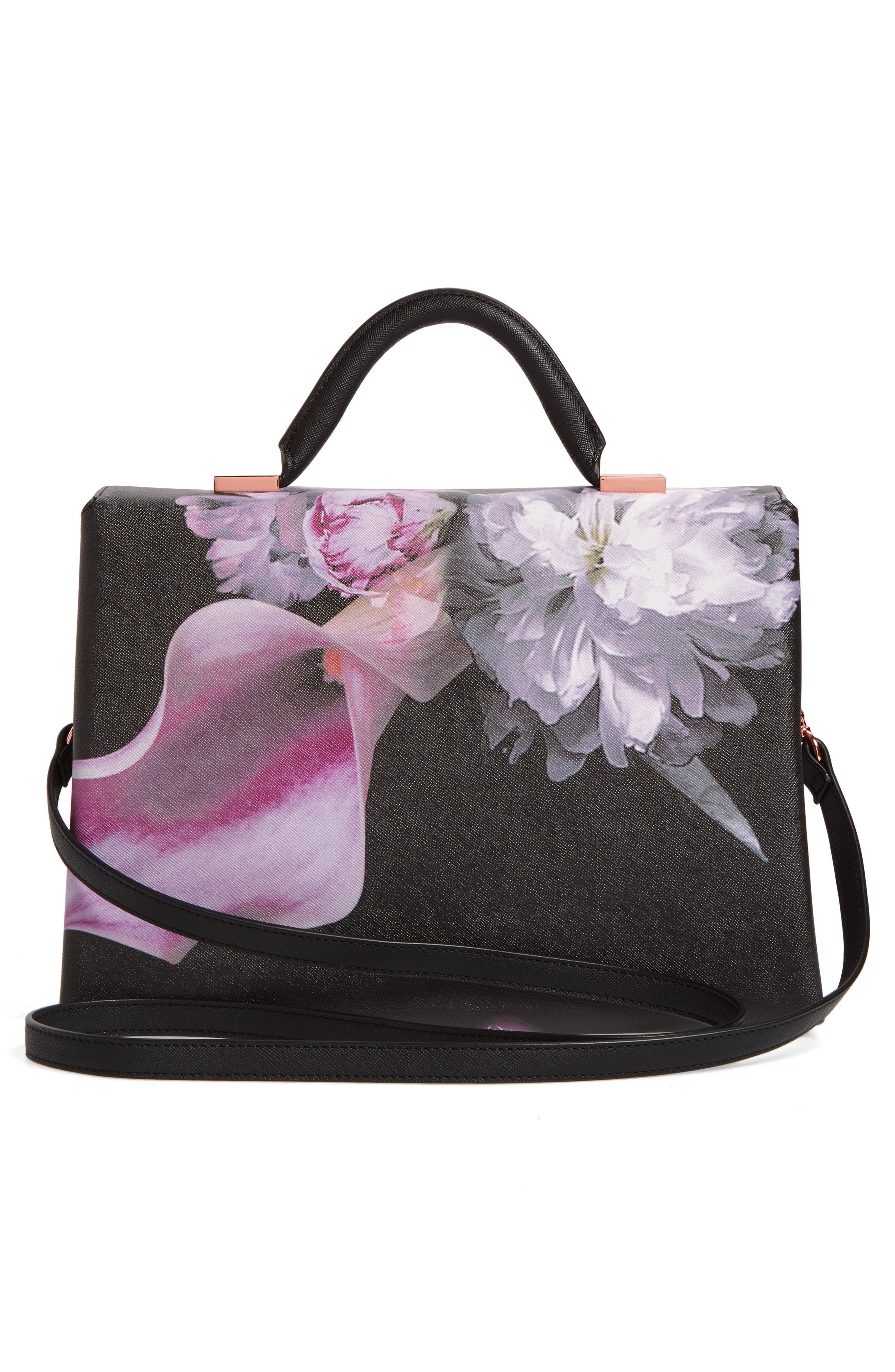 Alternate Image 2  - Ted Baker London Ethereal Posie Faux Leather Satchel