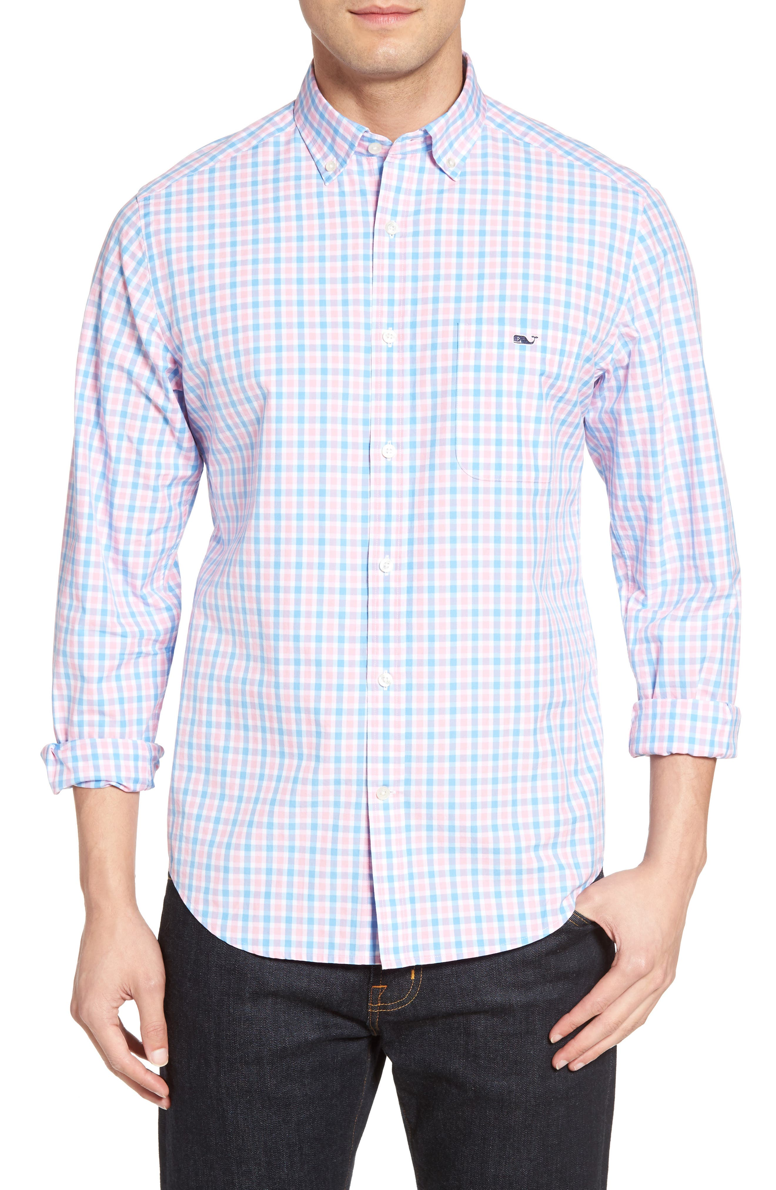 Vineyard Vines Saddle Bay Tucker Classic Fit Check Sport Shirt