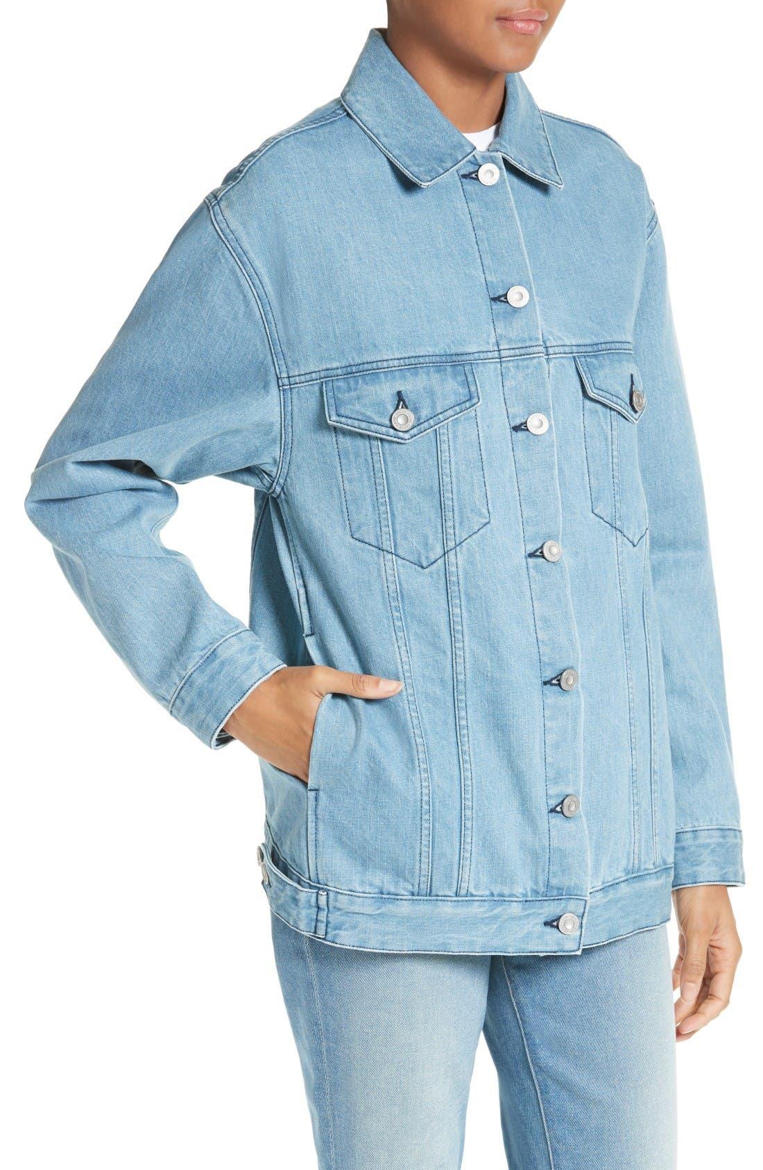Alternate Image 4  - être cécile L'Avenue des Stars Embroidered Denim Jacket