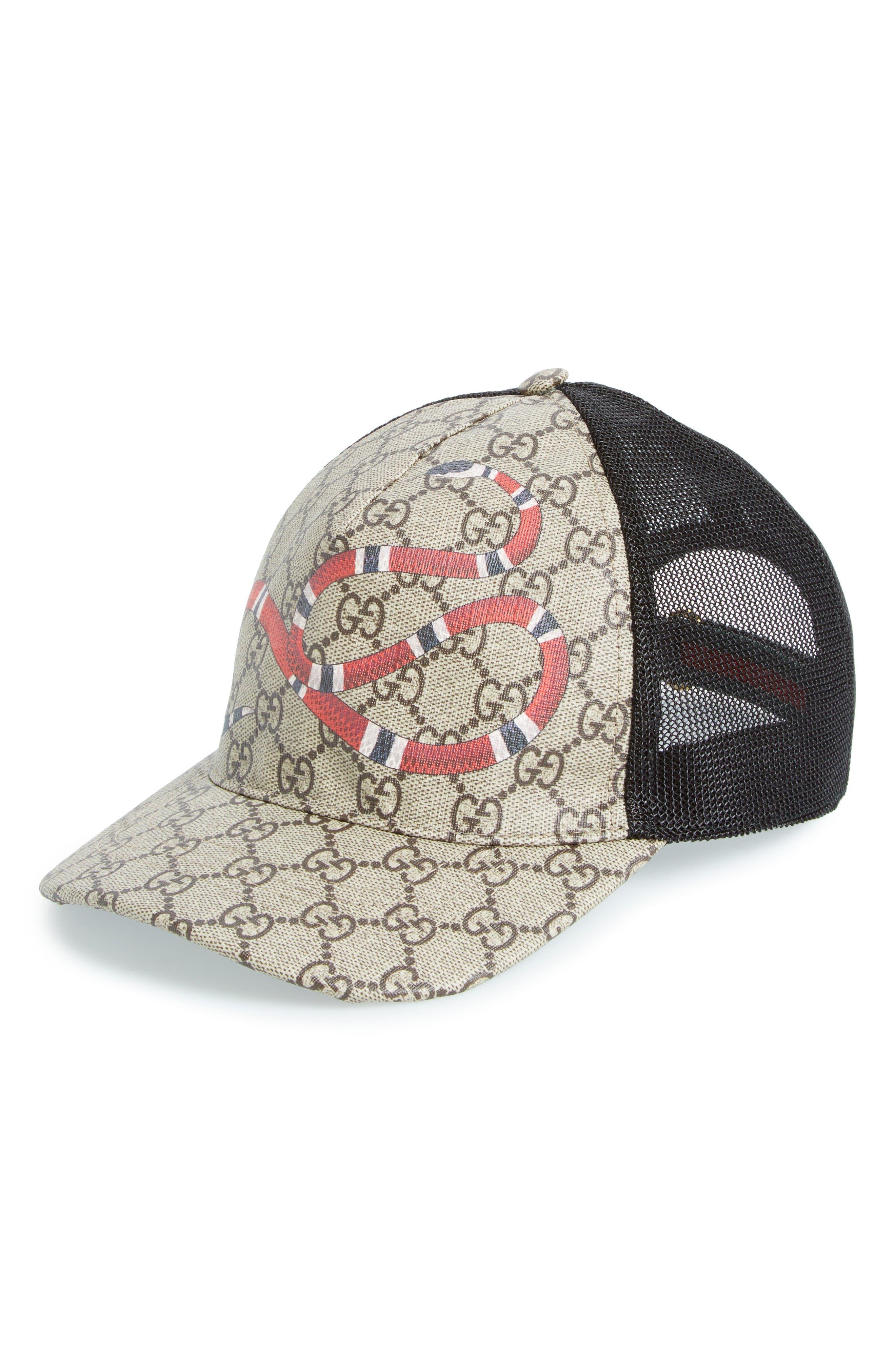 Alternate Image 1 Selected - Gucci Snake Print Baseball Cap