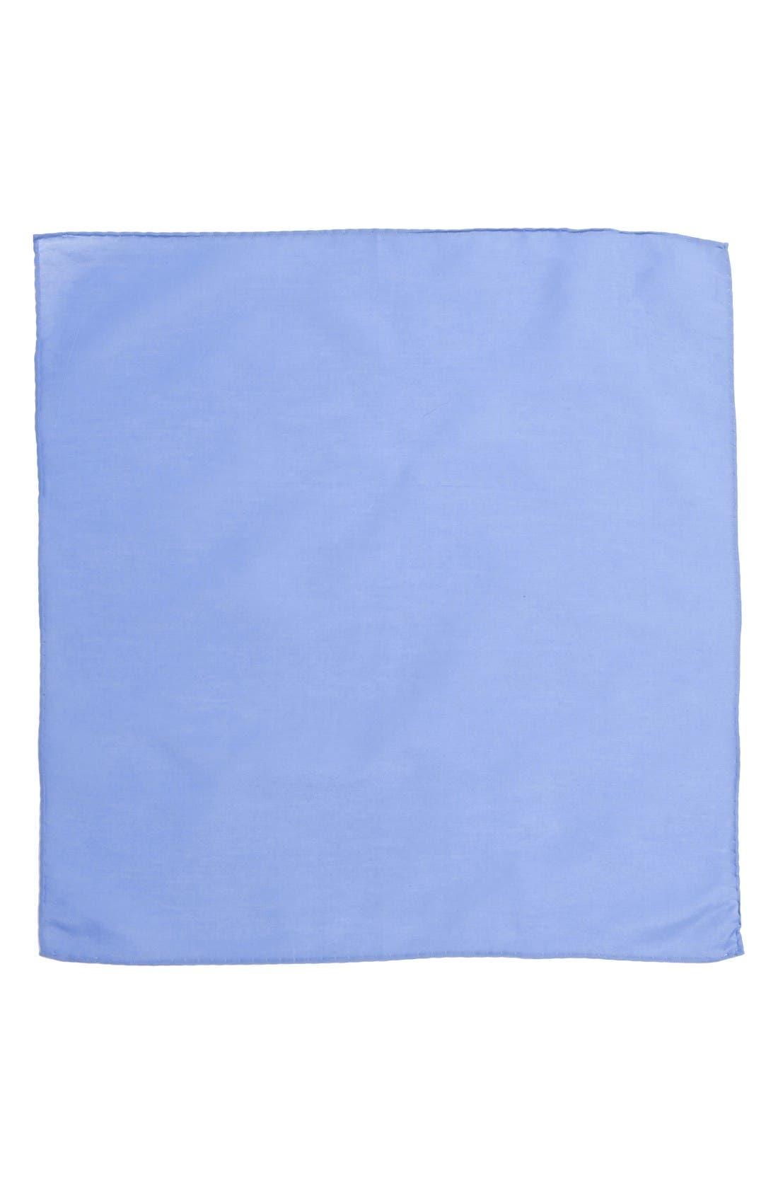 Alternate Image 2  - Nordstrom Men's Shop Solid Cotton & Silk Pocket Square