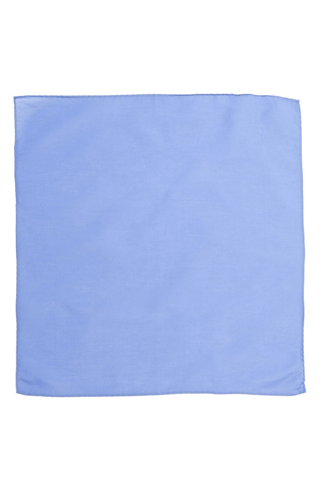 Solid Cotton & Silk Pocket Square,                             Alternate thumbnail 2, color,                             Light Blue