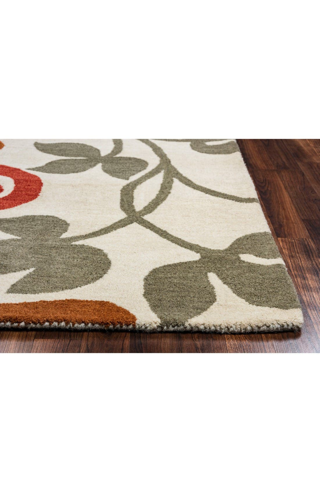 Zoe Hand Tufted Wool Area Rug,                             Alternate thumbnail 2, color,                             Ivory/ Multi