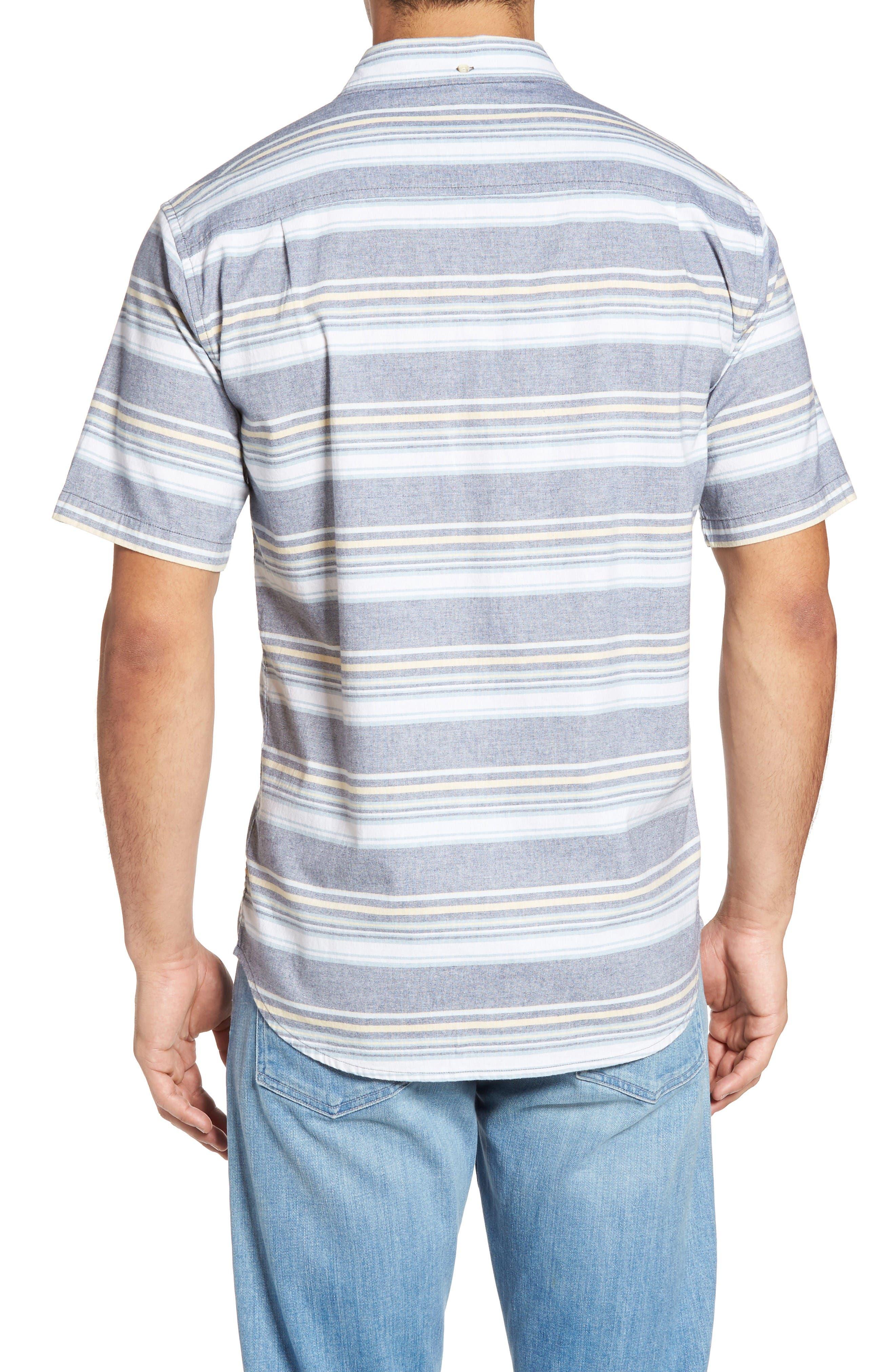 Pura Vida Sport Shirt,                             Alternate thumbnail 2, color,                             Navy