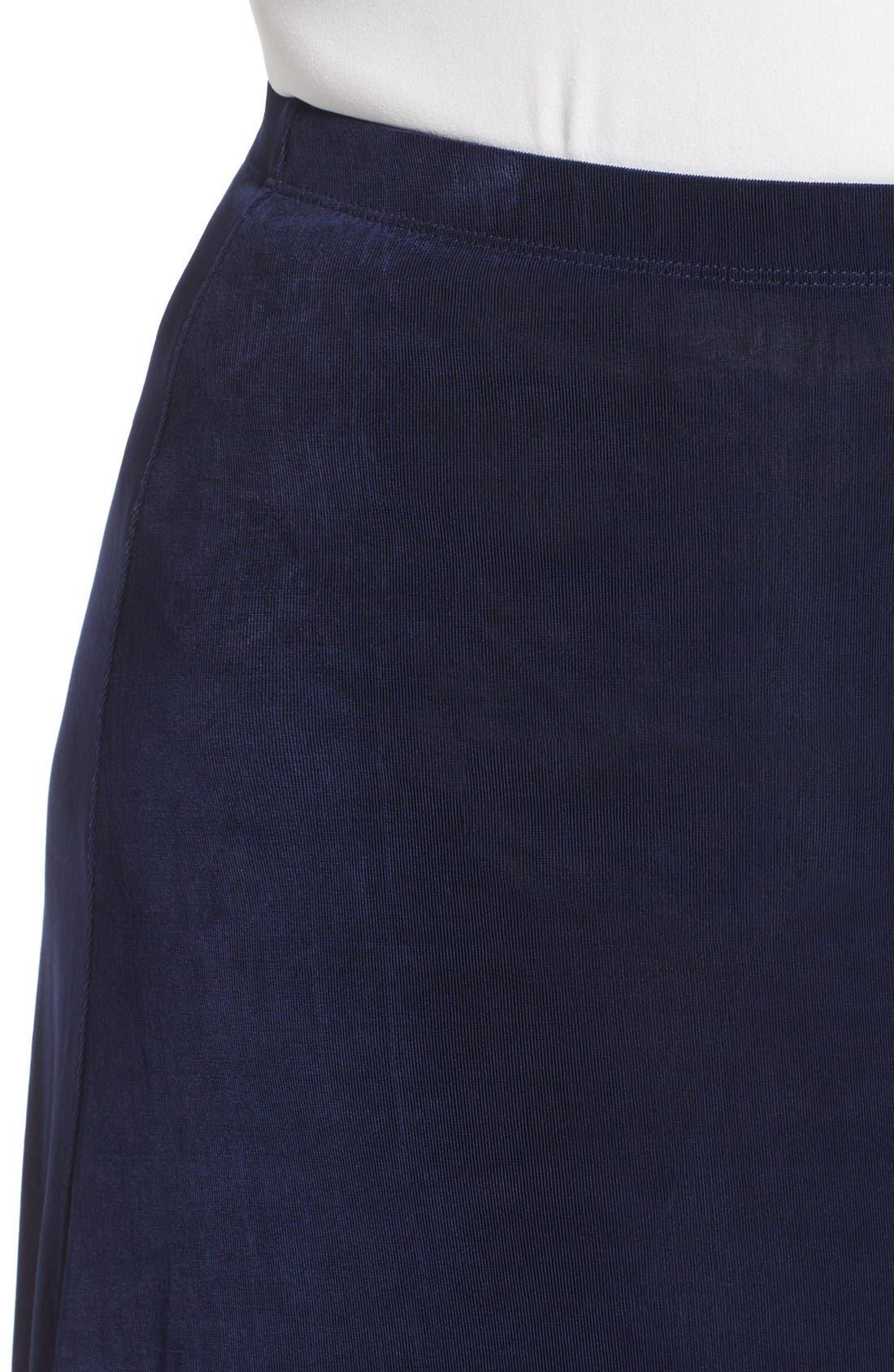 Long A-Line Skirt,                             Alternate thumbnail 4, color,                             Navy
