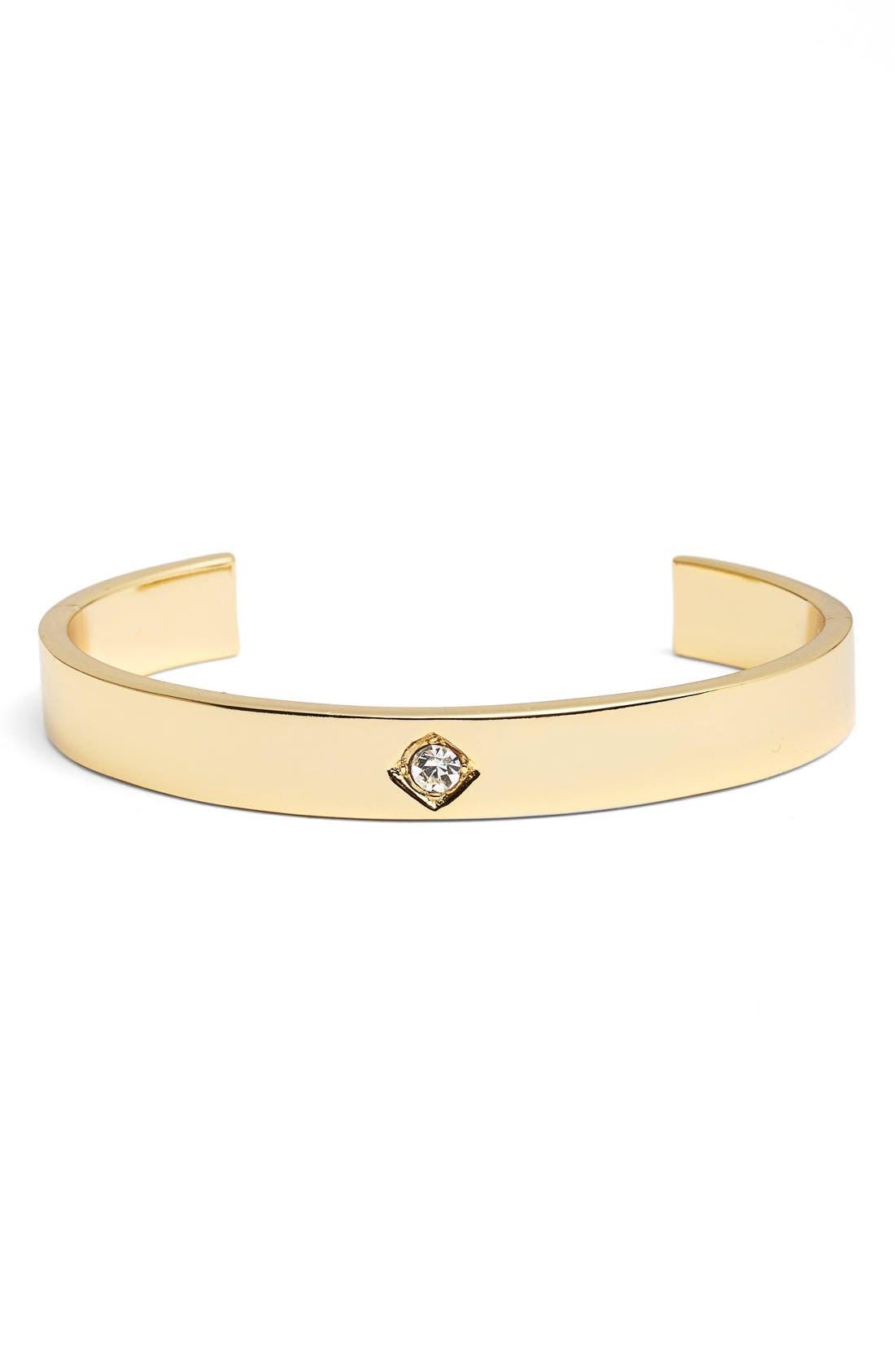 Tulum Cuff Bracelet,                         Main,                         color, Gold/ Clear