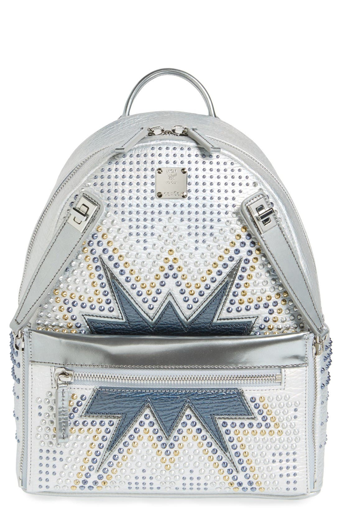 Main Image - MCM Dual Stark Studded Leather Backpack