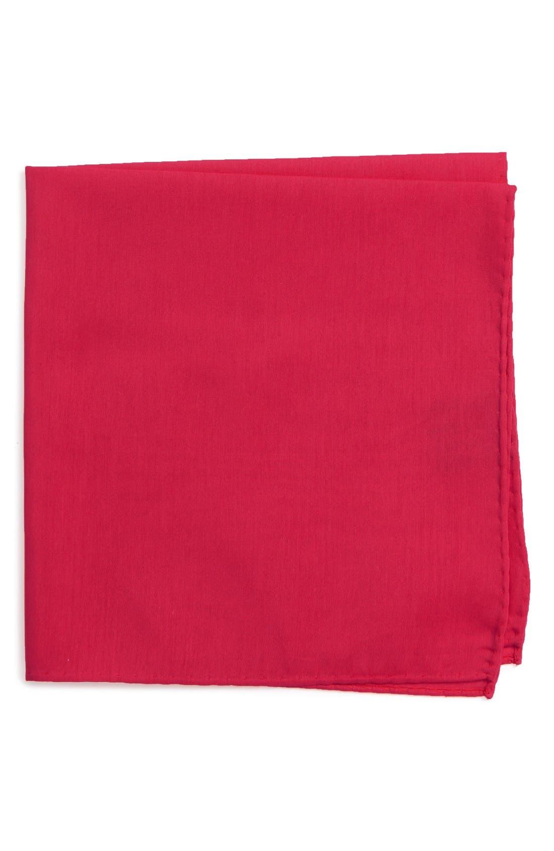 Nordstrom Men's Shop Solid Cotton & Silk Pocket Square