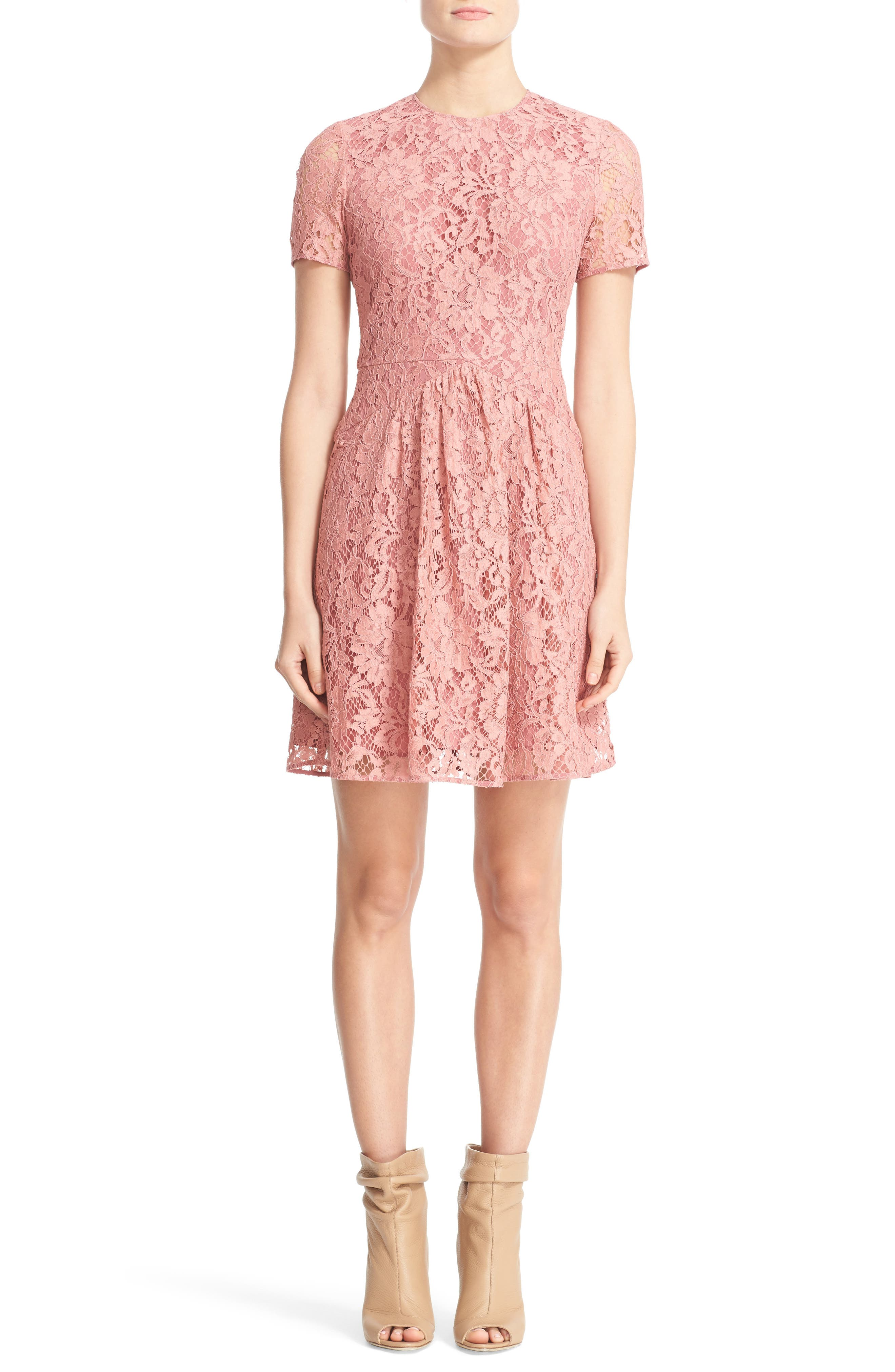 Main Image - Burberry Christy Lace Fit & Flare Dress