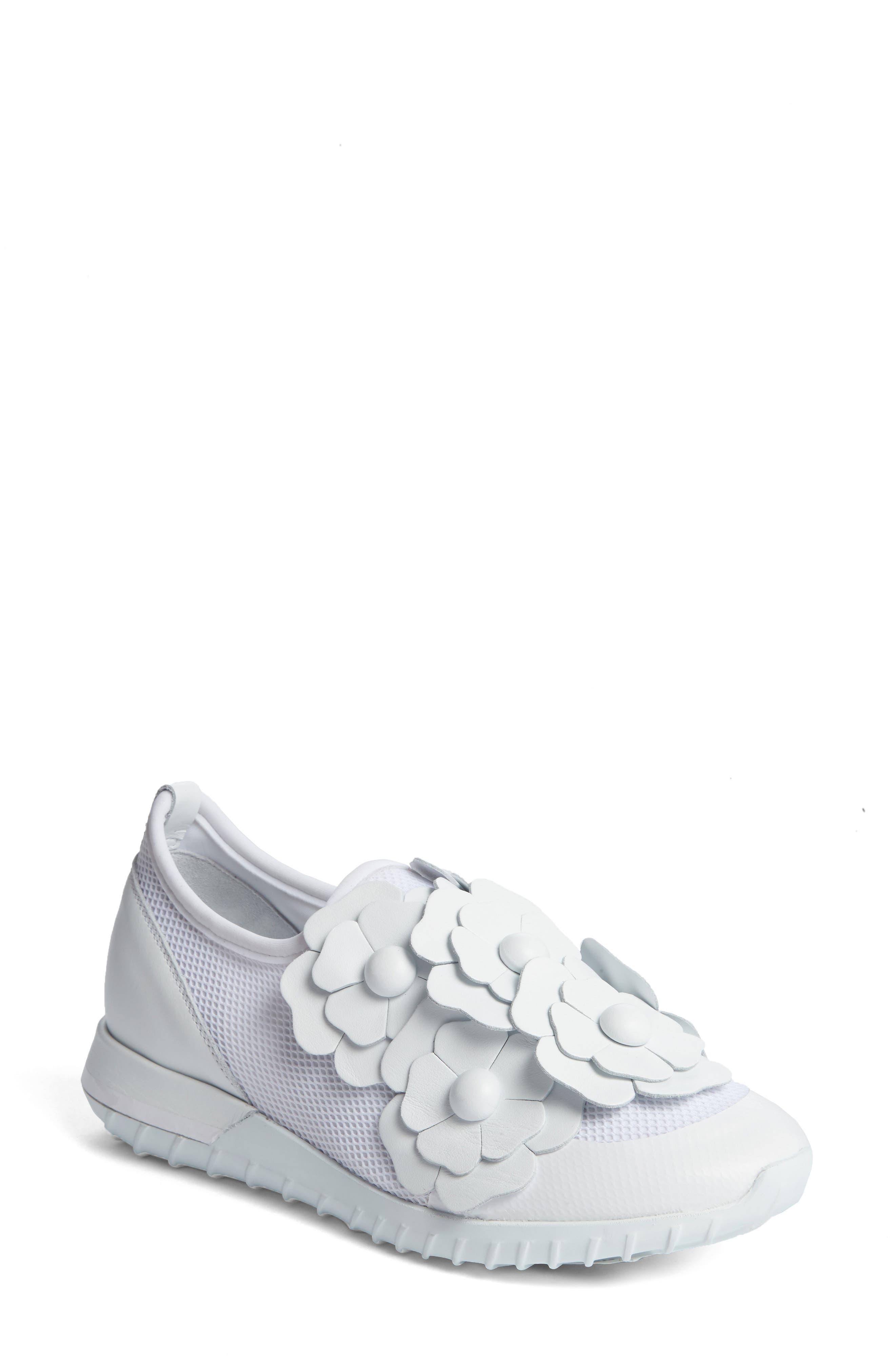 Emy Roseline Slip-On Sneaker,                             Main thumbnail 1, color,                             White Leather