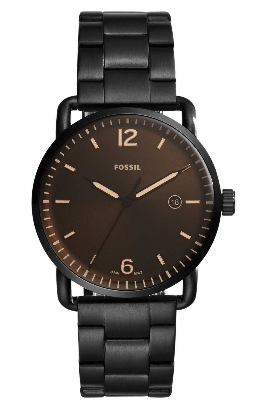 The Commuter Bracelet Watch, 42mm,                         Main,                         color, Black