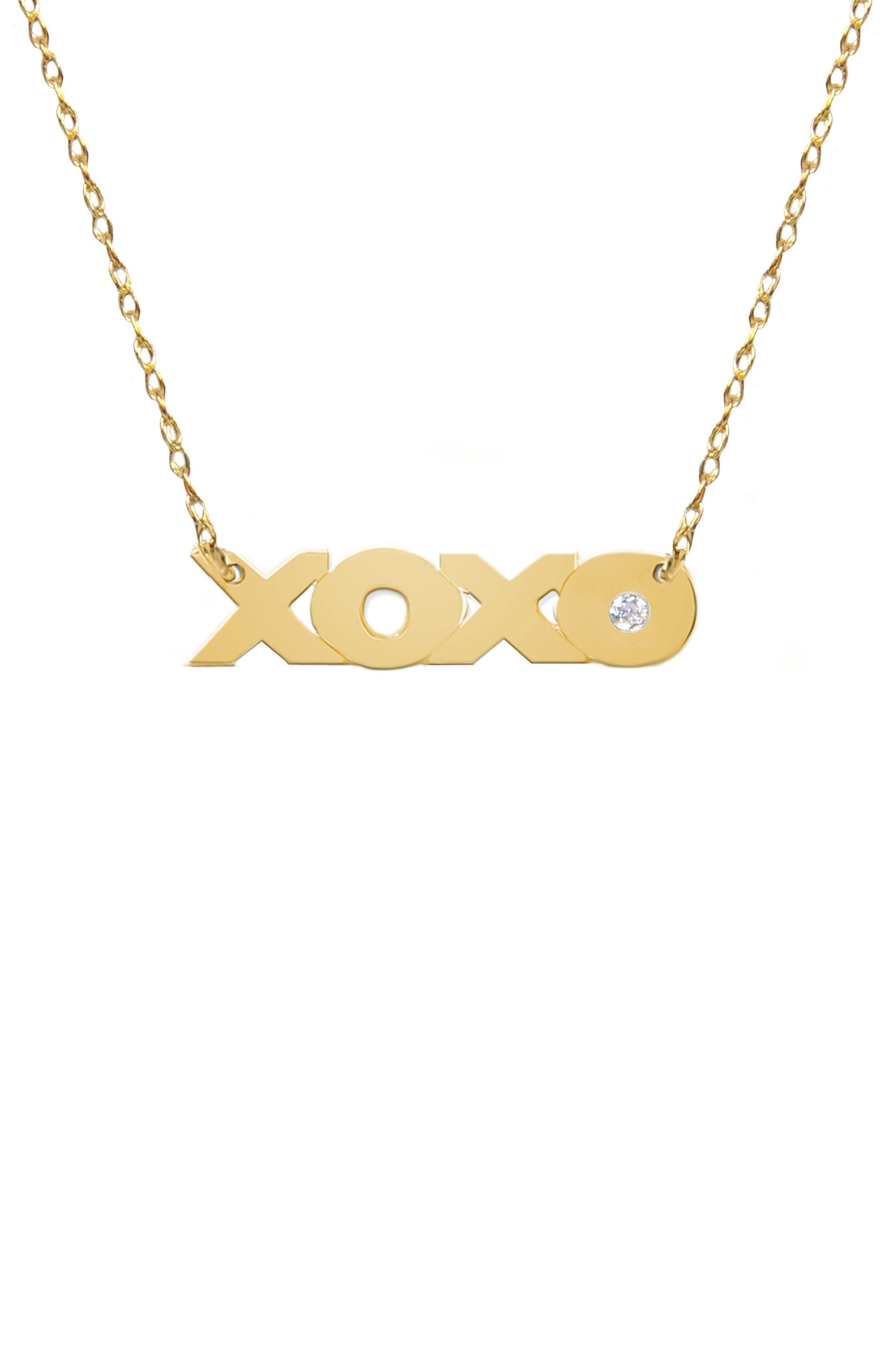 JANE BASCH DESIGNS XOXO Diamond Pendant Necklace