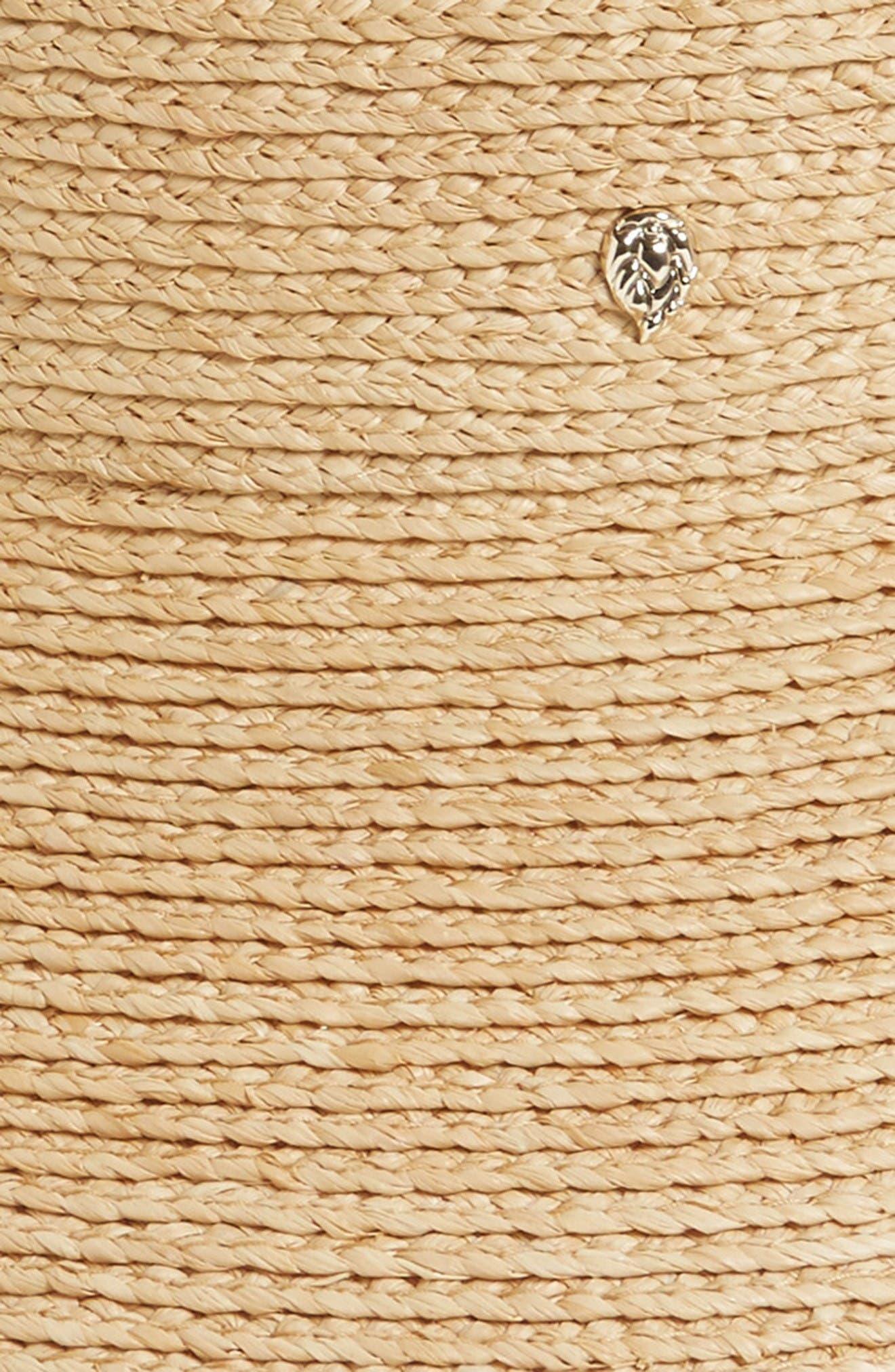 'Mita' Packable Raffia Visor,                             Alternate thumbnail 2, color,                             Natural Sand