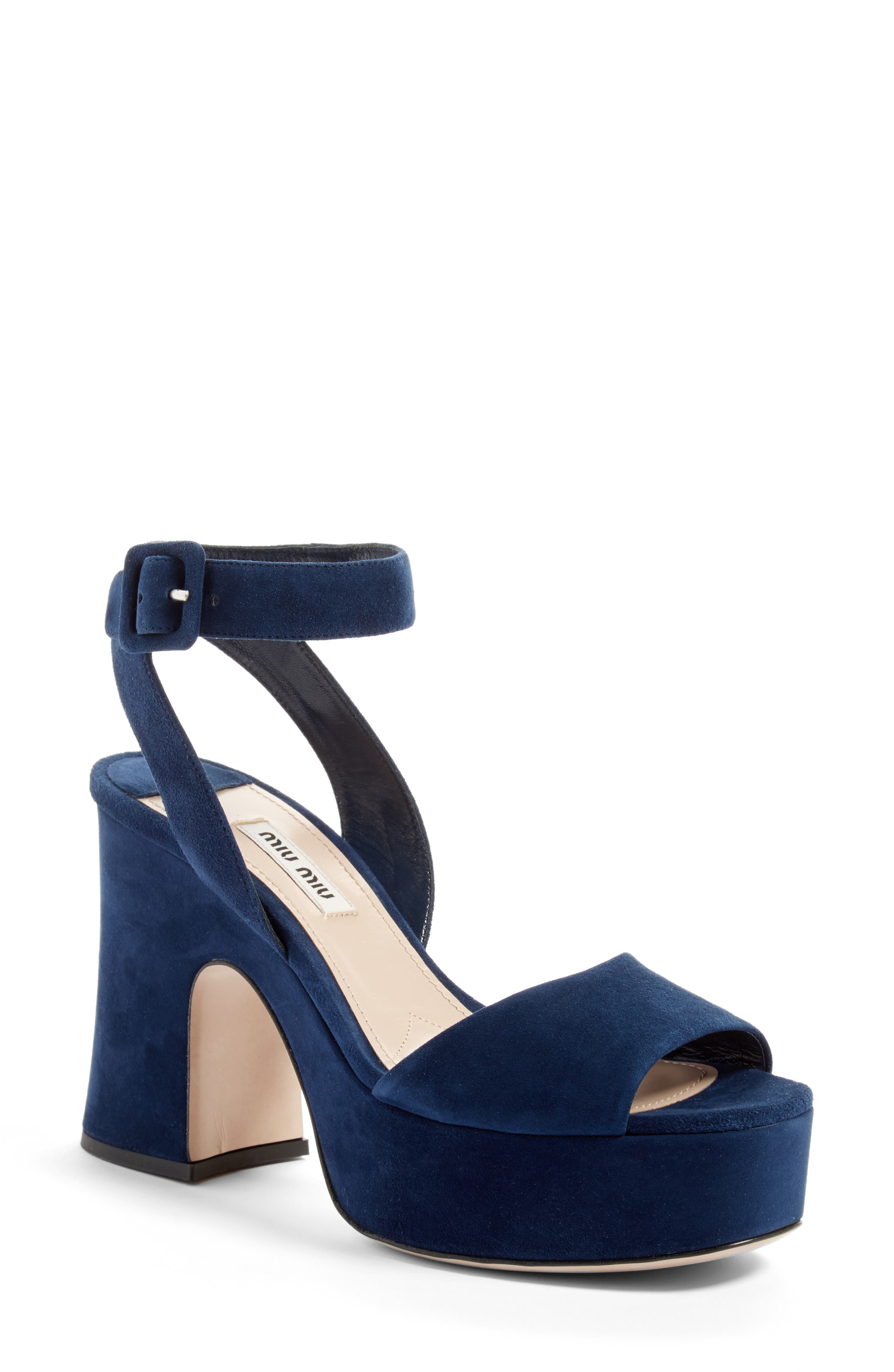 Main Image - Miu Miu Platform Strap Sandal (Women)
