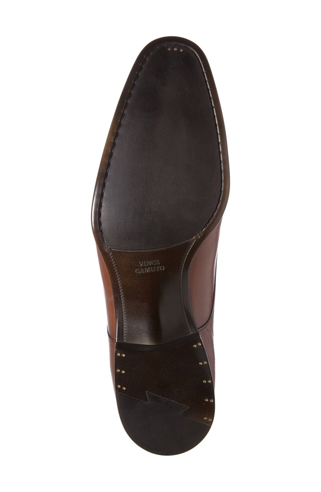 Tosto Cap Toe Derby,                             Alternate thumbnail 4, color,                             Luggage Leather