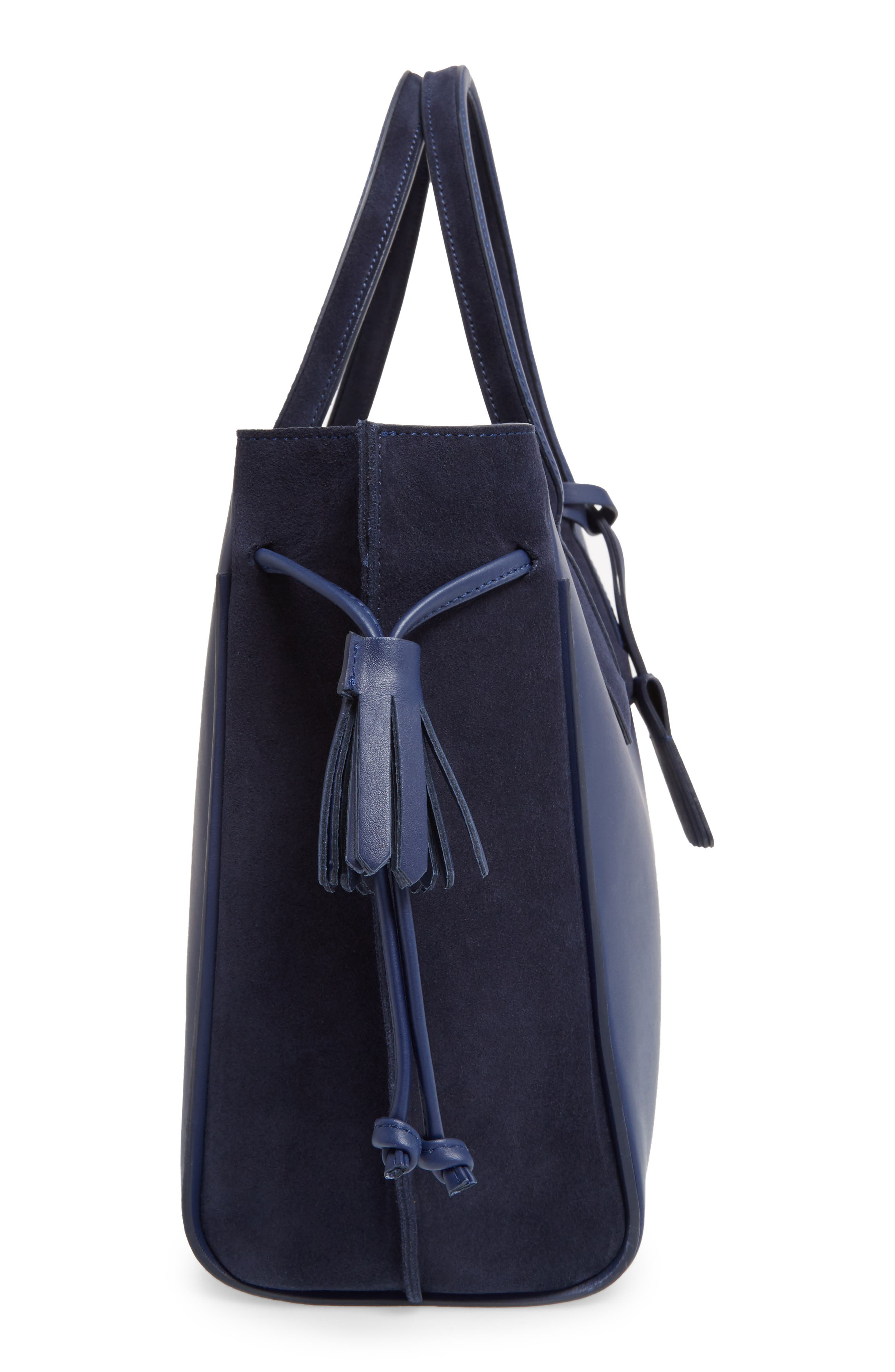'Medium Penelope Fantasie' Leather Tote,                             Alternate thumbnail 4, color,                             Blue