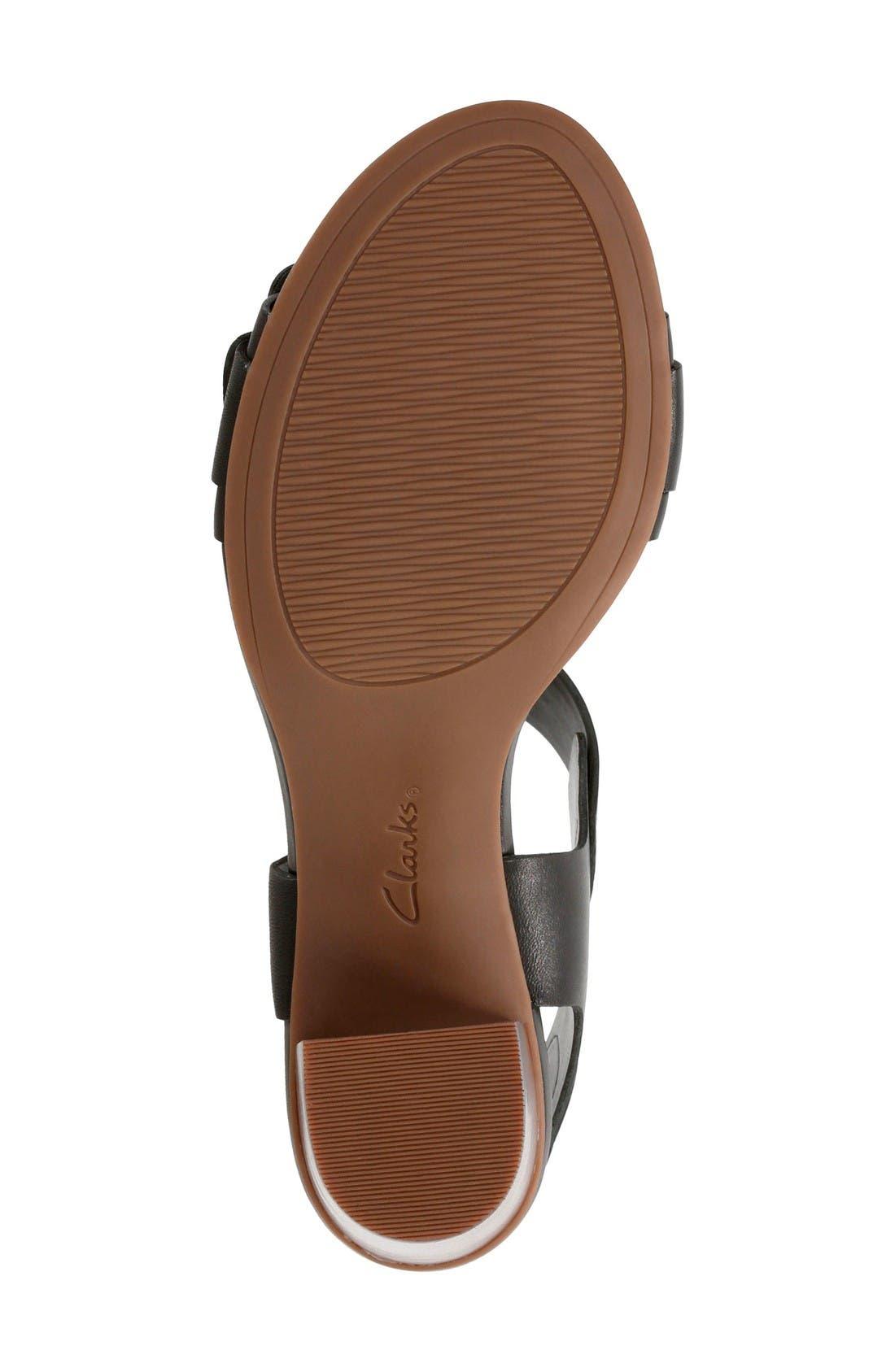Ralene Dazzle Sandal,                             Alternate thumbnail 5, color,                             Black Leather