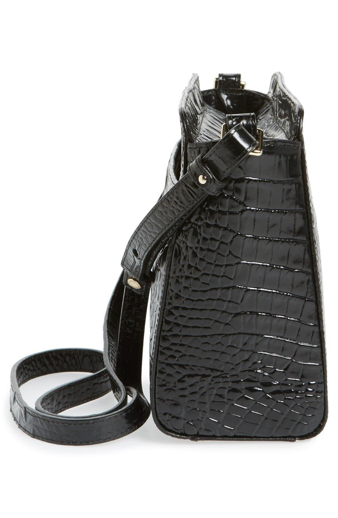 Melbourne Carrie Leather Crossbody Bag,                             Alternate thumbnail 5, color,                             Black