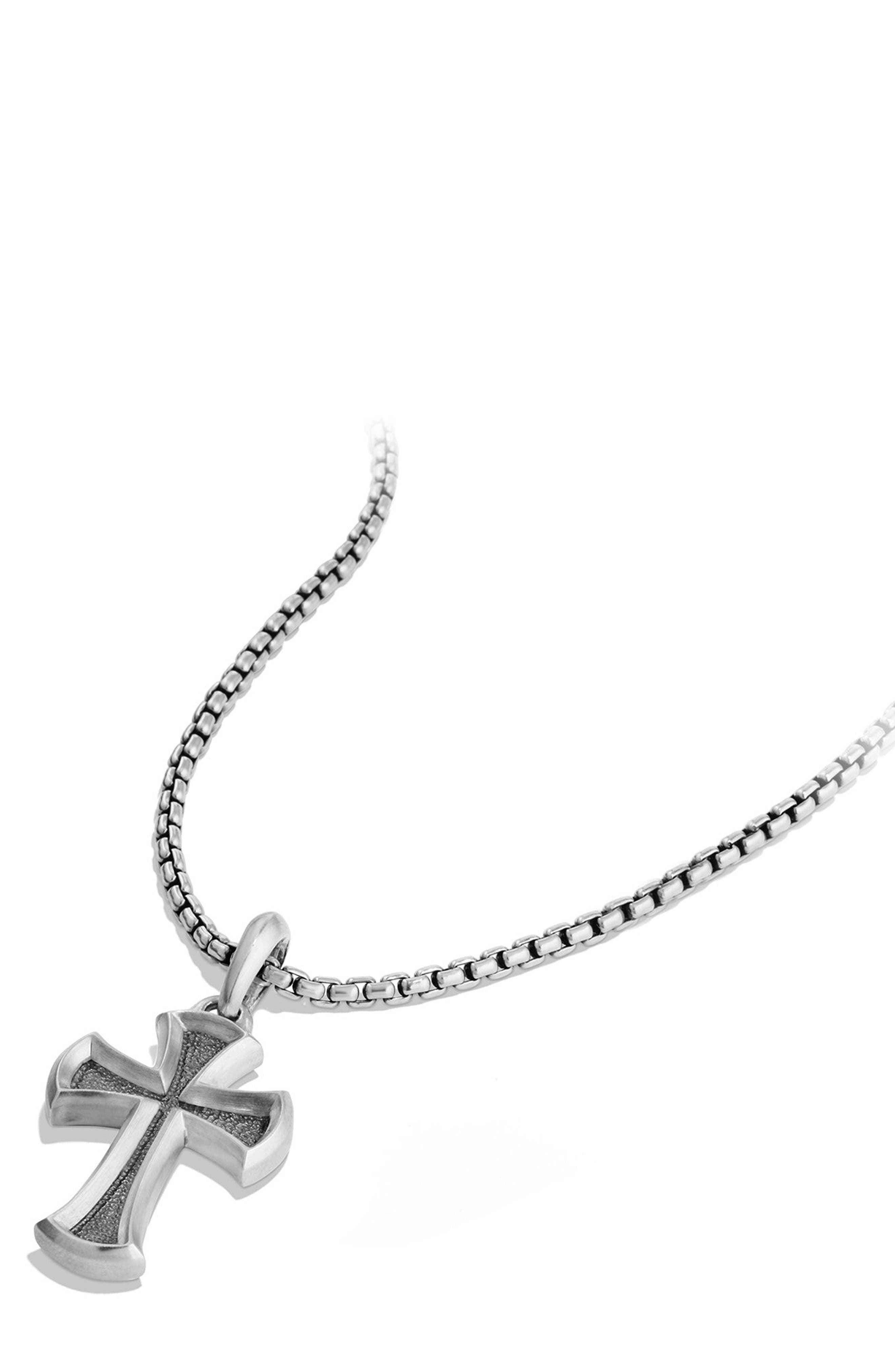 Cross Amulet,                             Alternate thumbnail 3, color,                             Silver