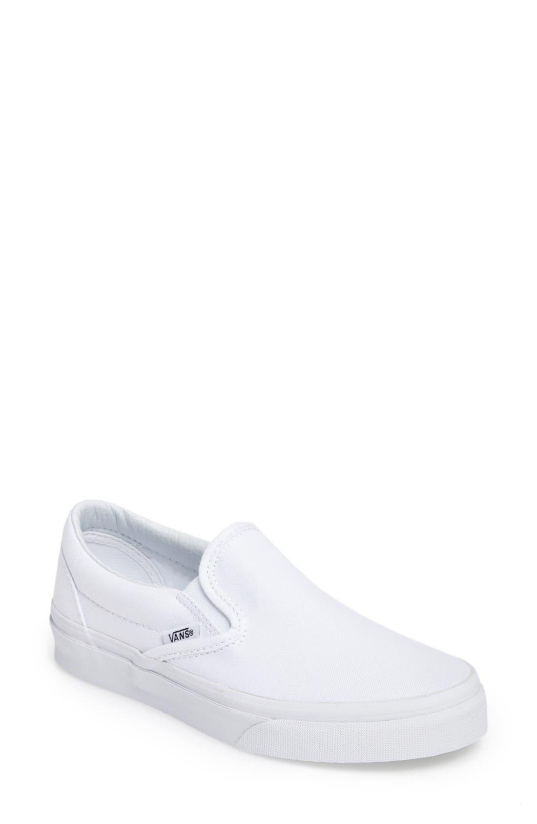 womens white vans pumps
