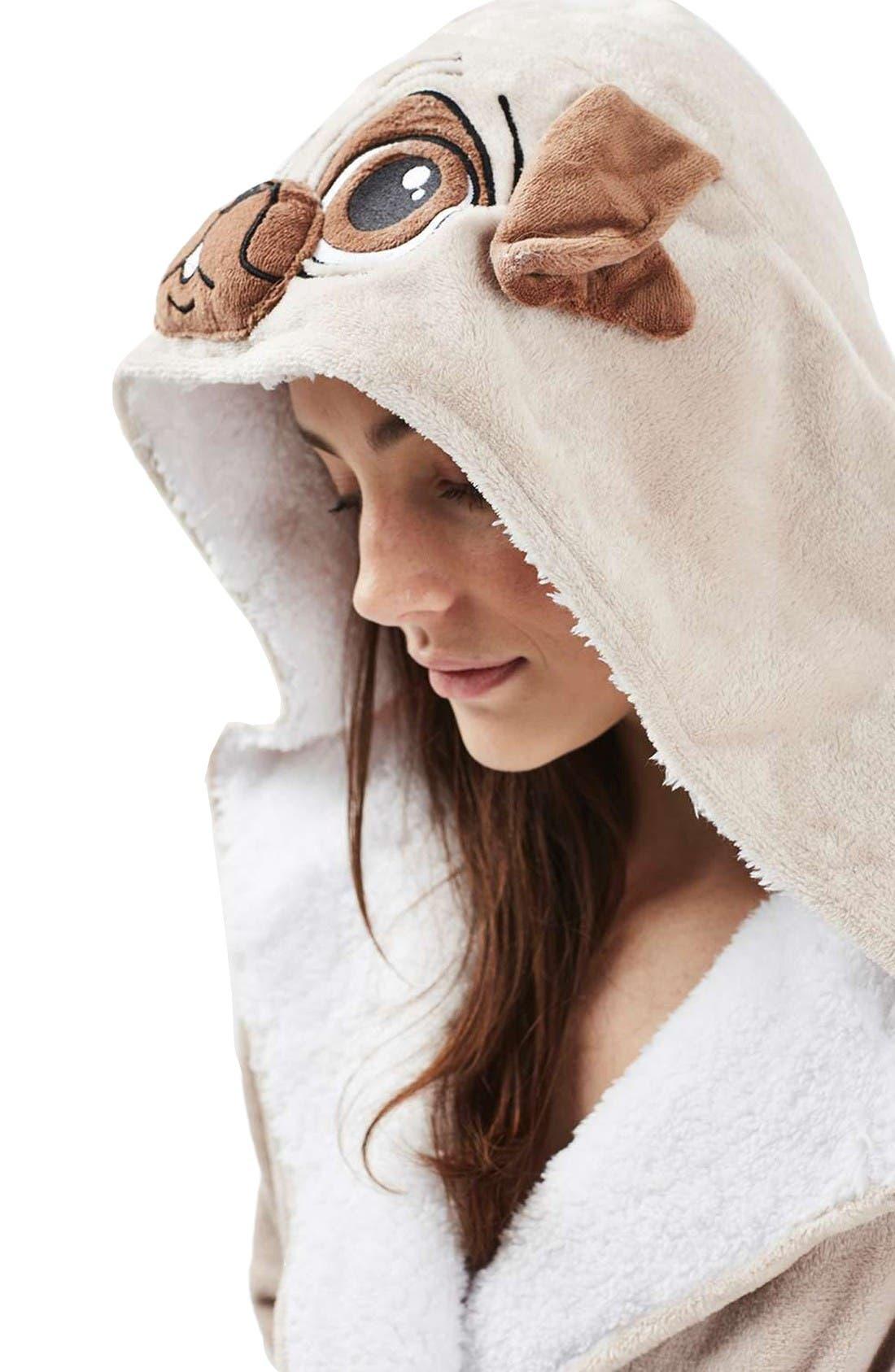 Alternate Image 5  - Topshop Pug Hood Robe
