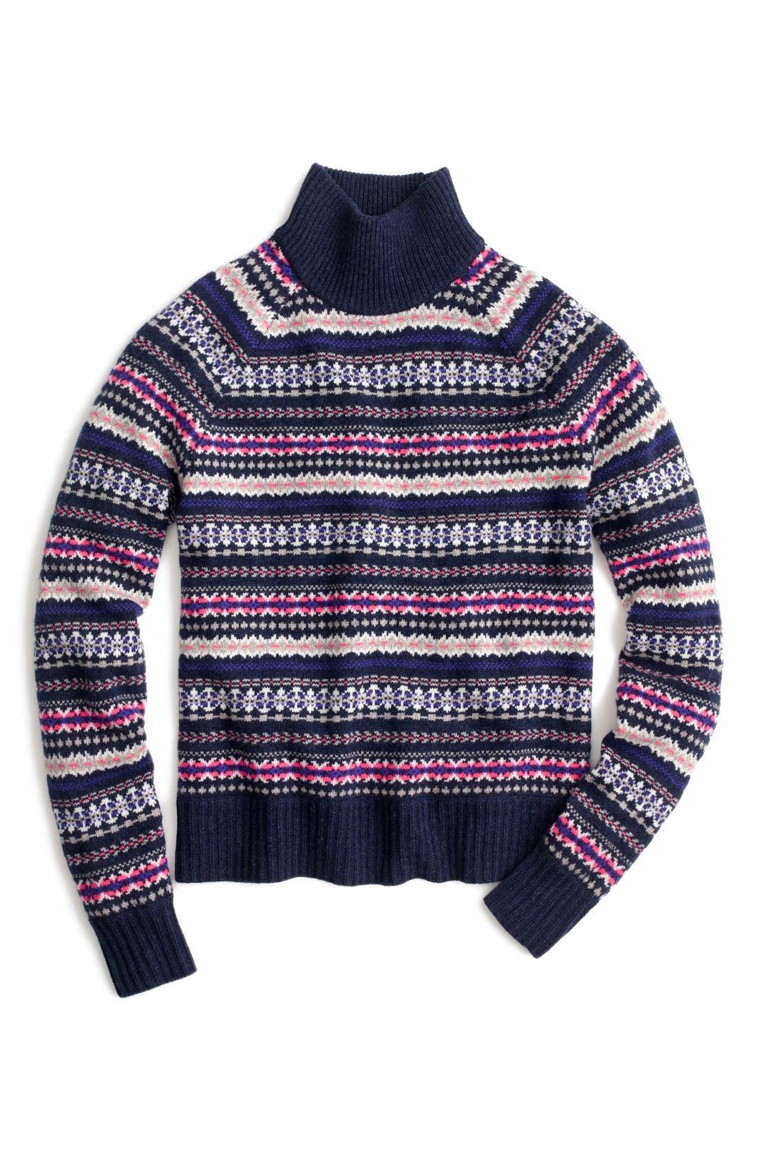 J.Crew Fair Isle Turtleneck Sweater | Nordstrom