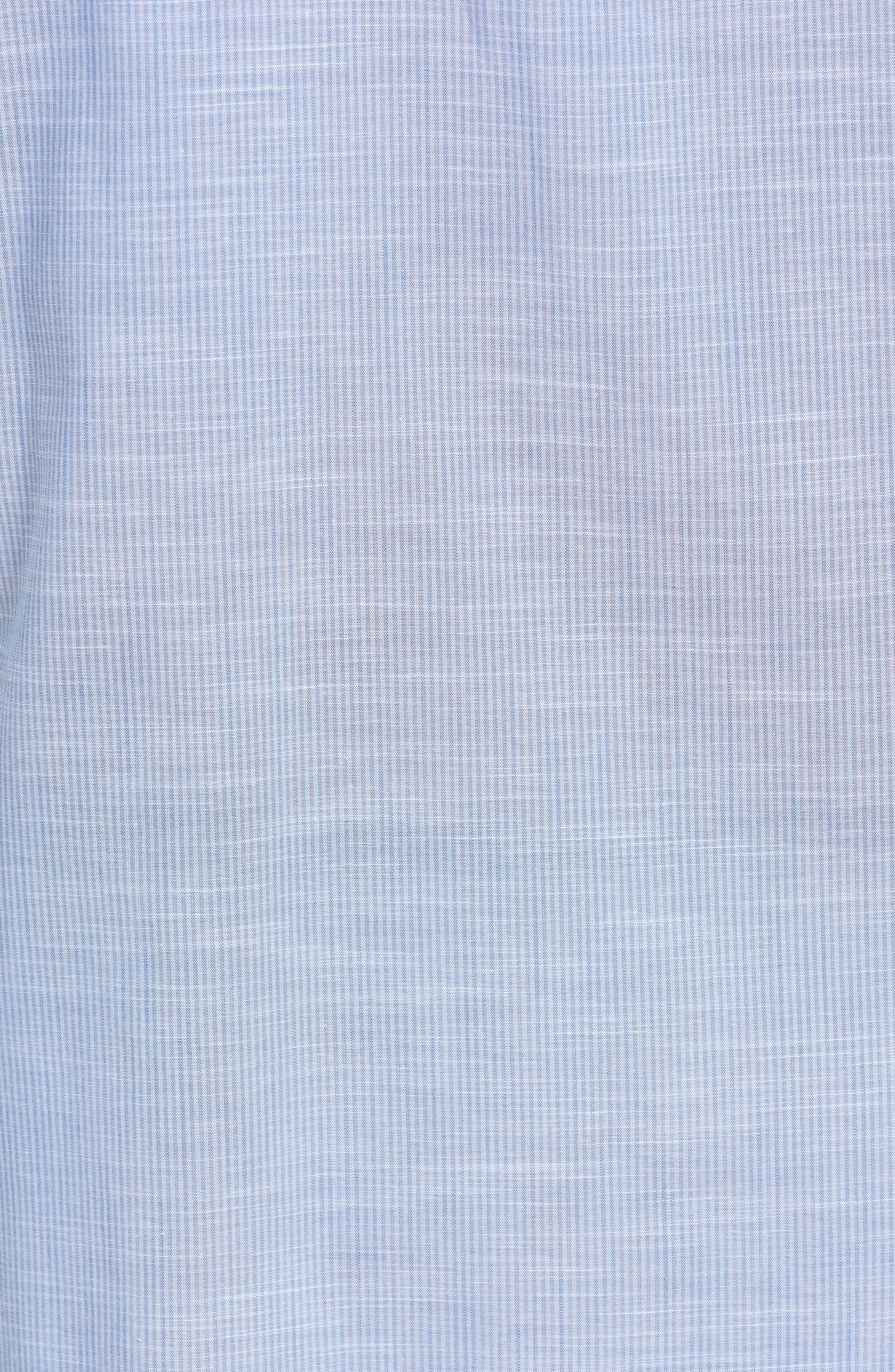 Alternate Image 5  - Zachary Prell Ronan Trim Fit Stripe Sport Shirt
