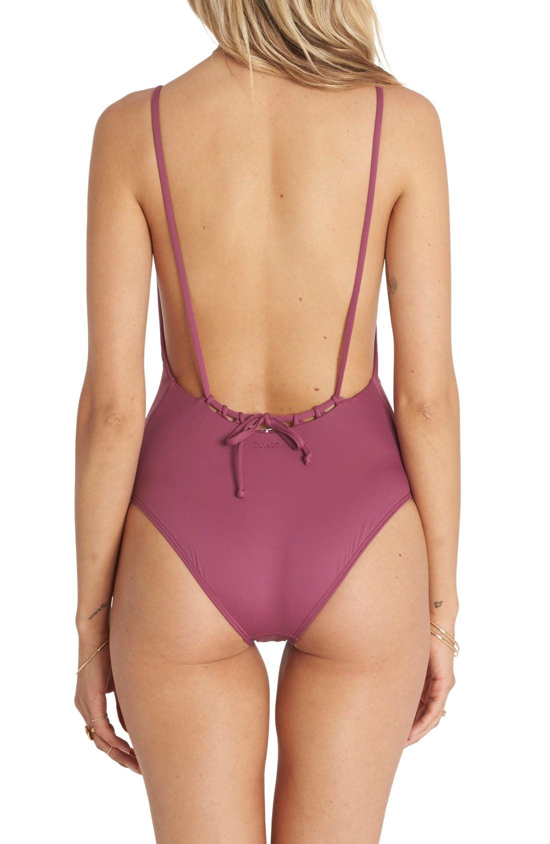 Alternate Image 2  - Billabong Sol Searcher Lace-Up One-Piece Swimsuit