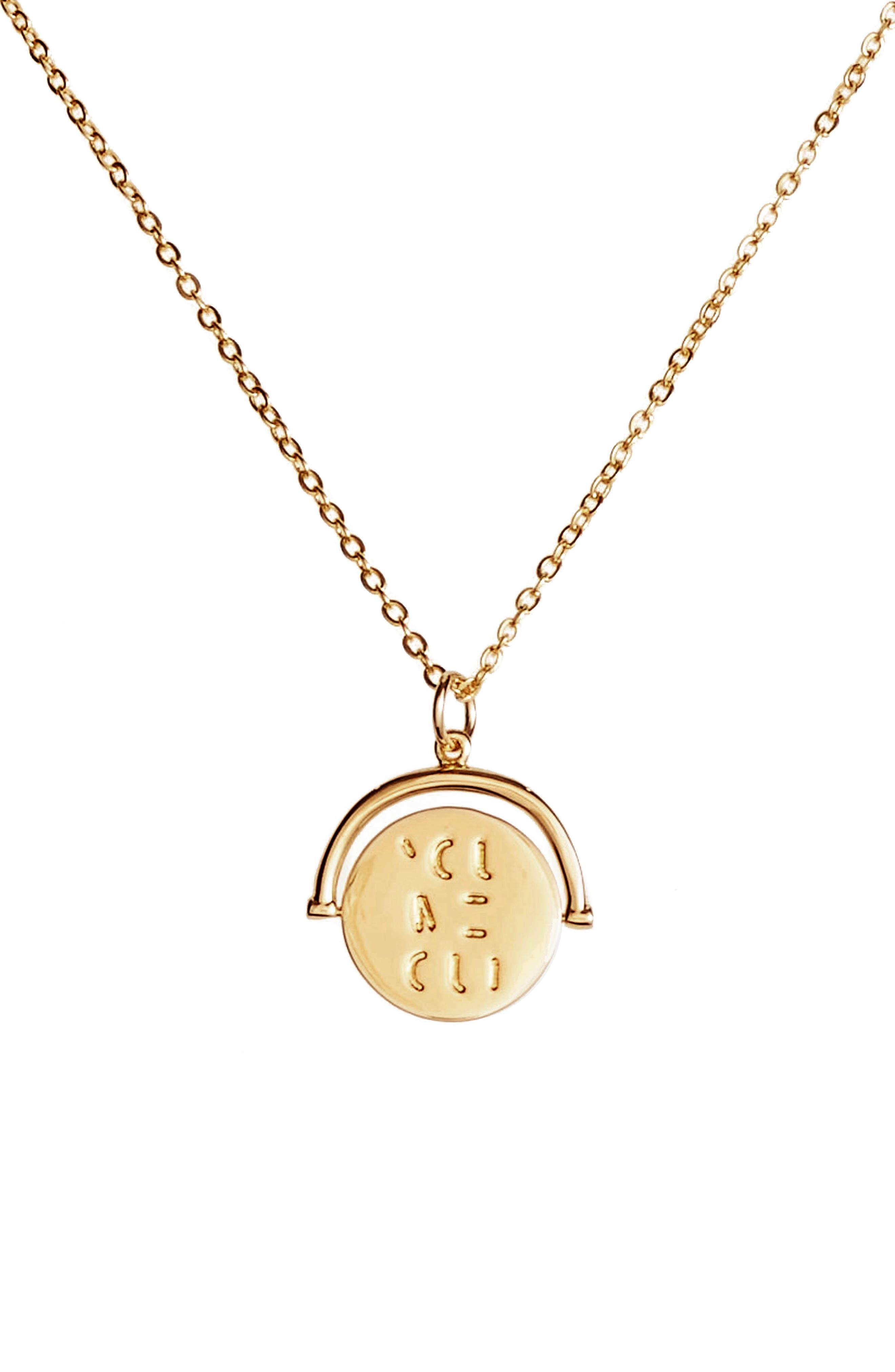 lulu dk You Me Oui Love Code Charm Necklace