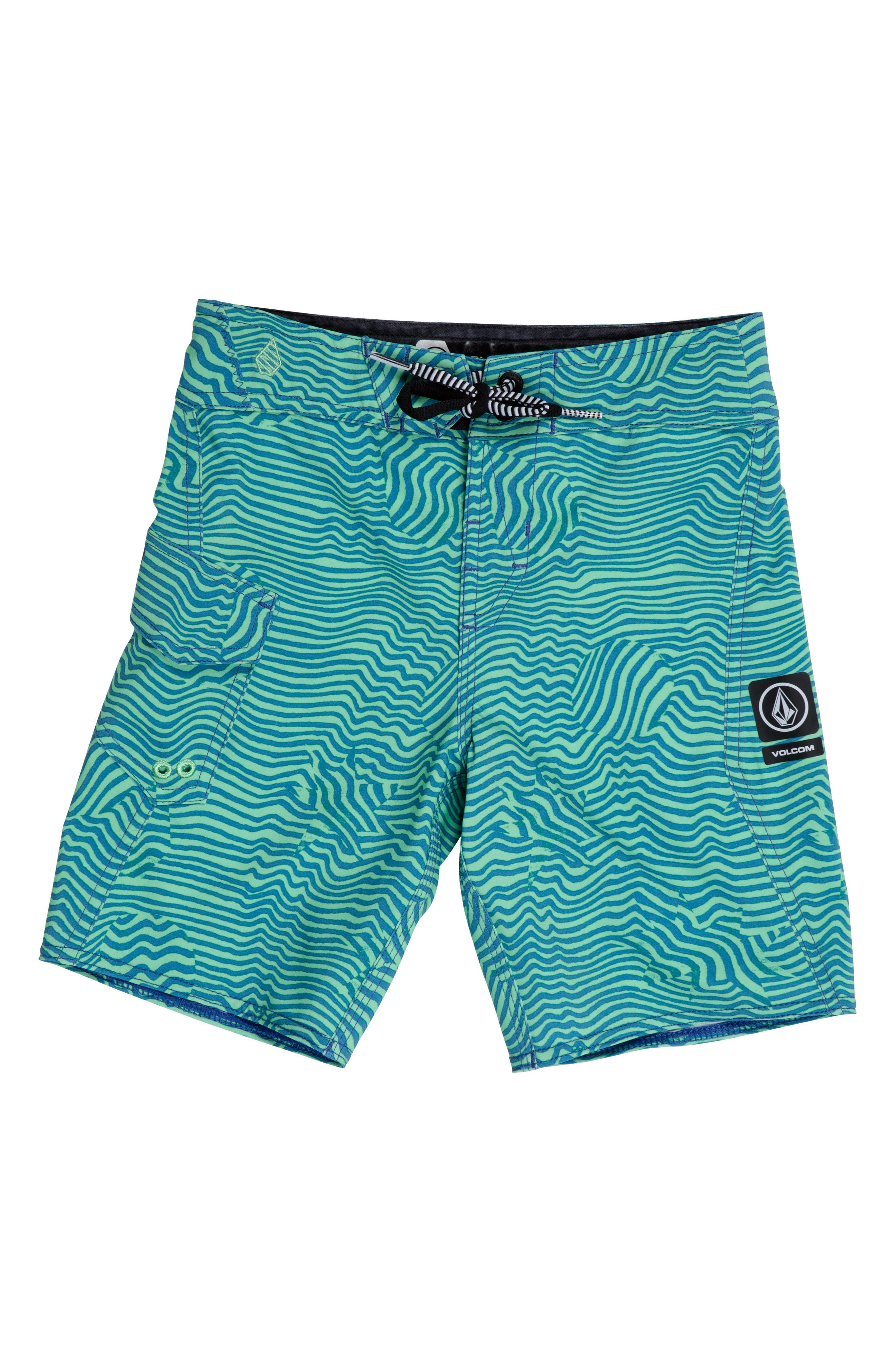Magnetic Stone Board Shorts,                         Main,                         color, Poison Green