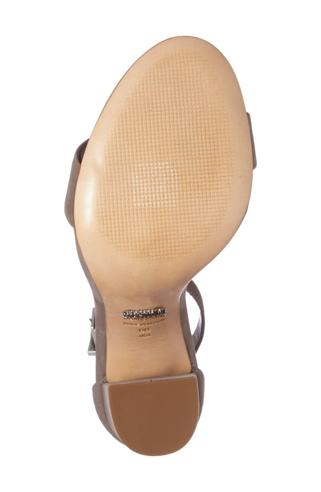Enida Sandal,                             Alternate thumbnail 4, color,                             Mouse Nubuck Leather