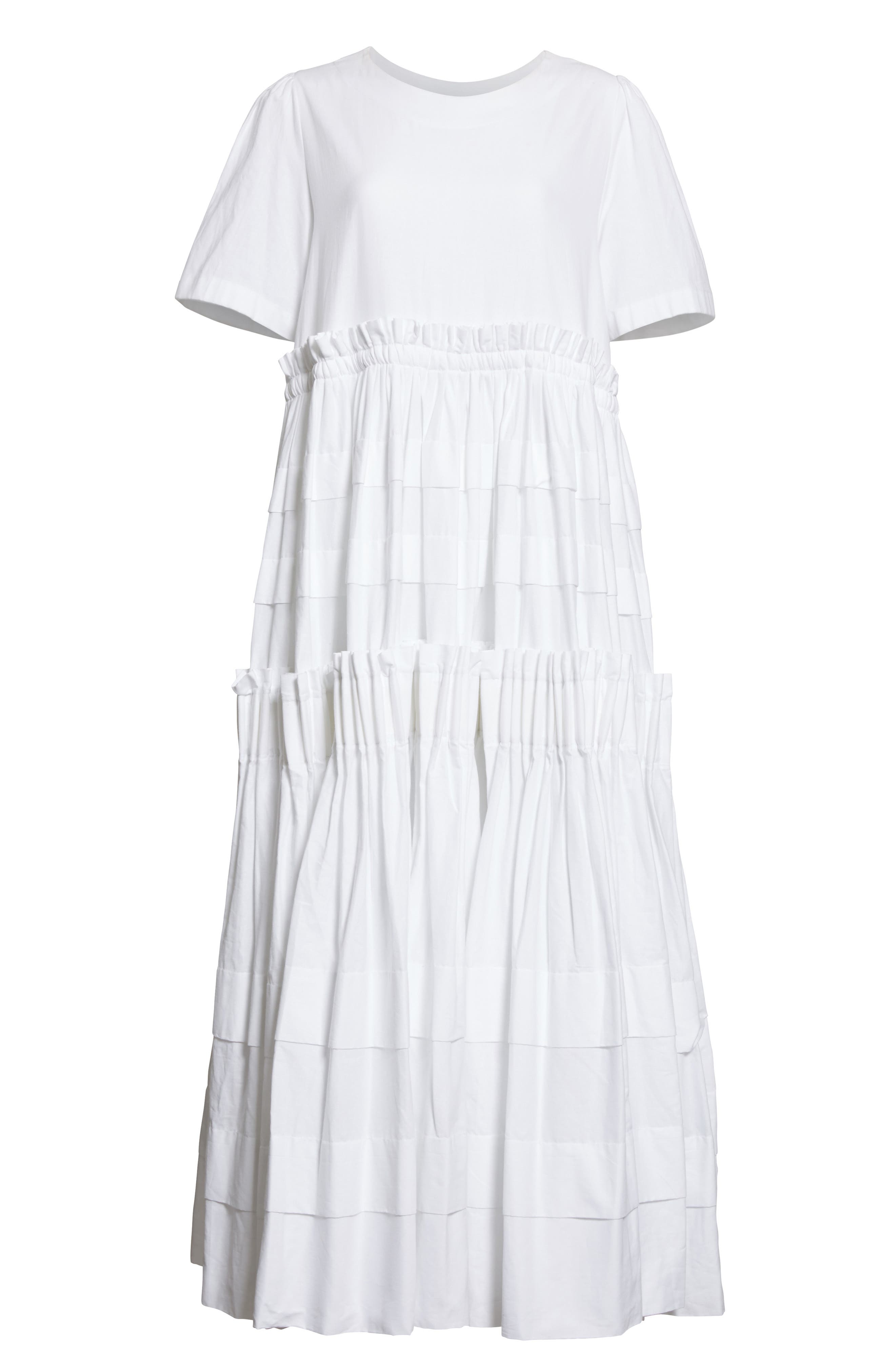 Mathilda Maxi Dress,                             Alternate thumbnail 4, color,                             White