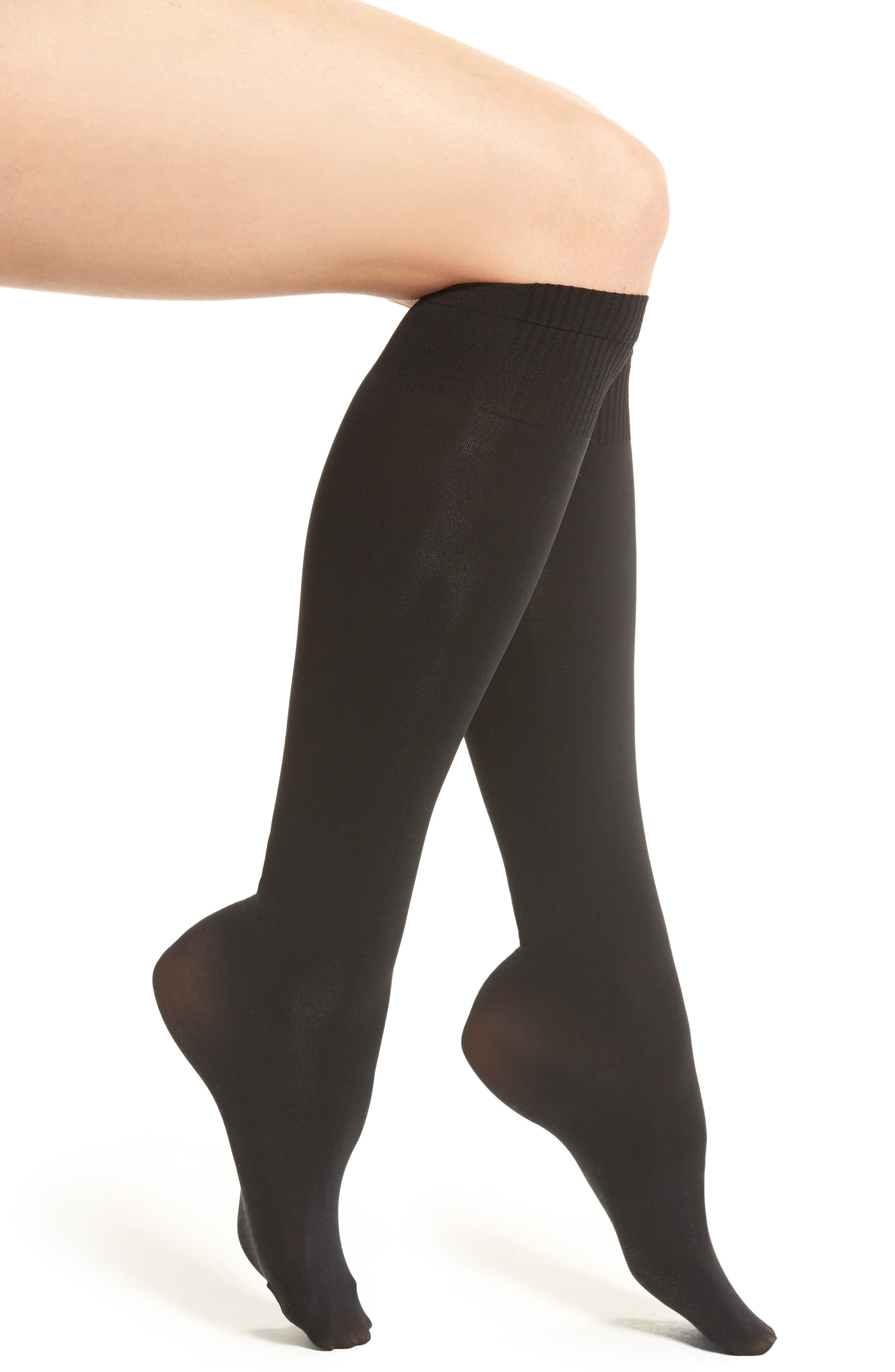 Alternate Image 1 Selected - DKNY Opaque Knee High Socks