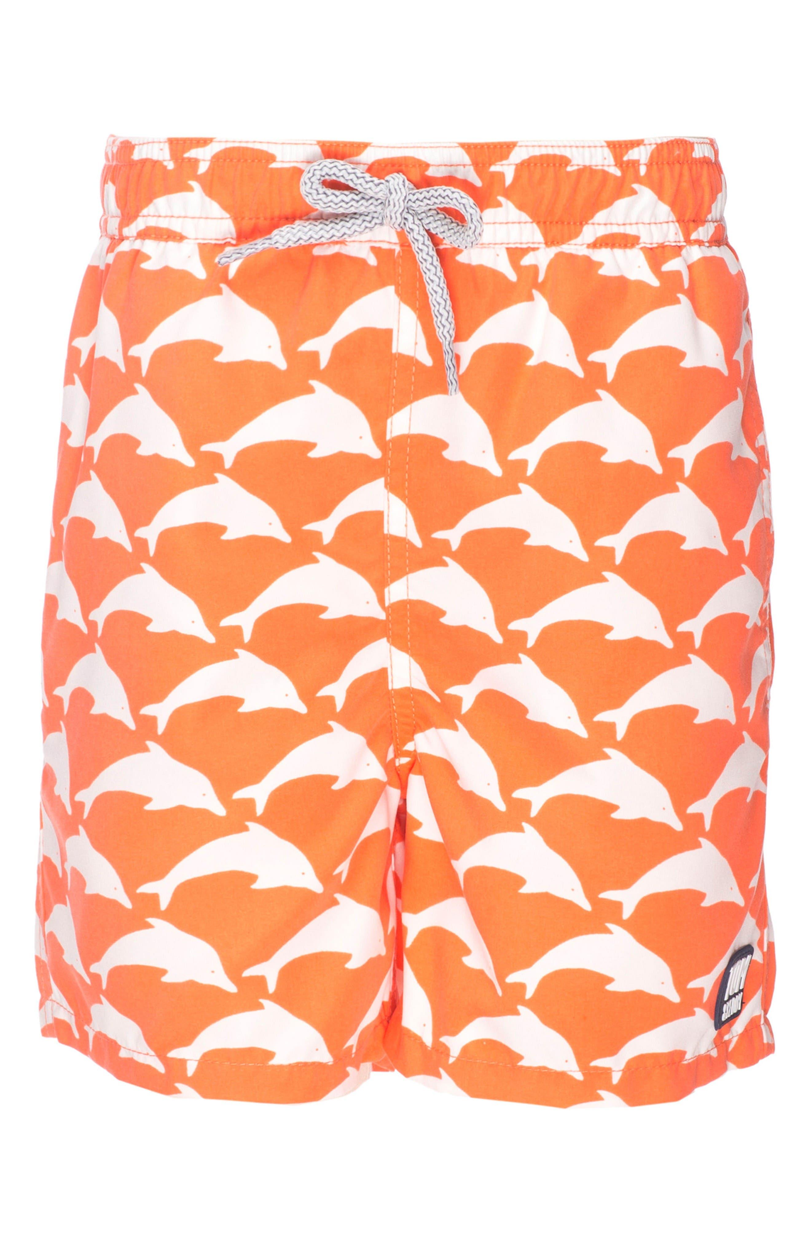Alternate Image 2  - Tom & Teddy Dolphin Swim Trunks (Toddler Boys, Little Boys & Big Boys)