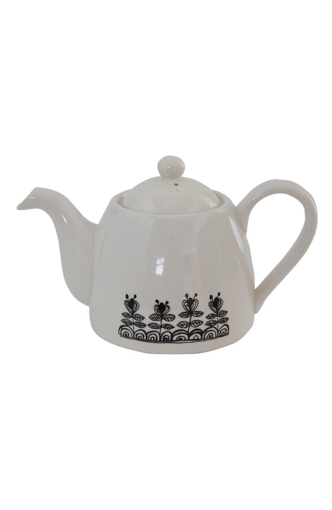 Alternate Image 2  - Creative Co-Op Time for Tea Teapot