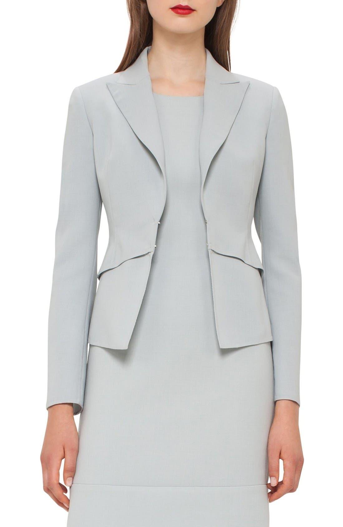 Alternate Image 1 Selected - Akris Double Face Wool Blend Jacket