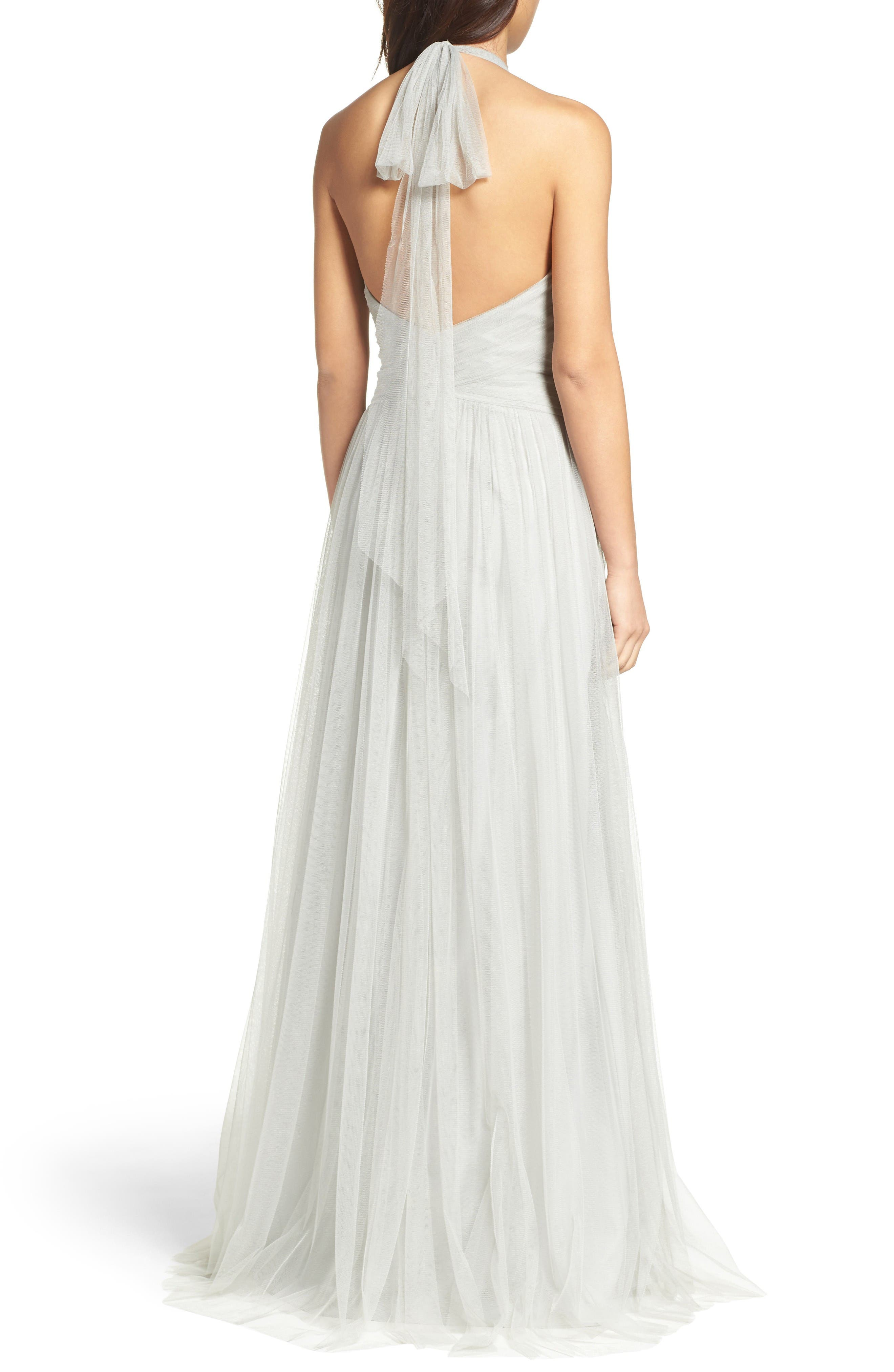 Alternate Image 2  - WTOO Halter Tulle A-Line Gown