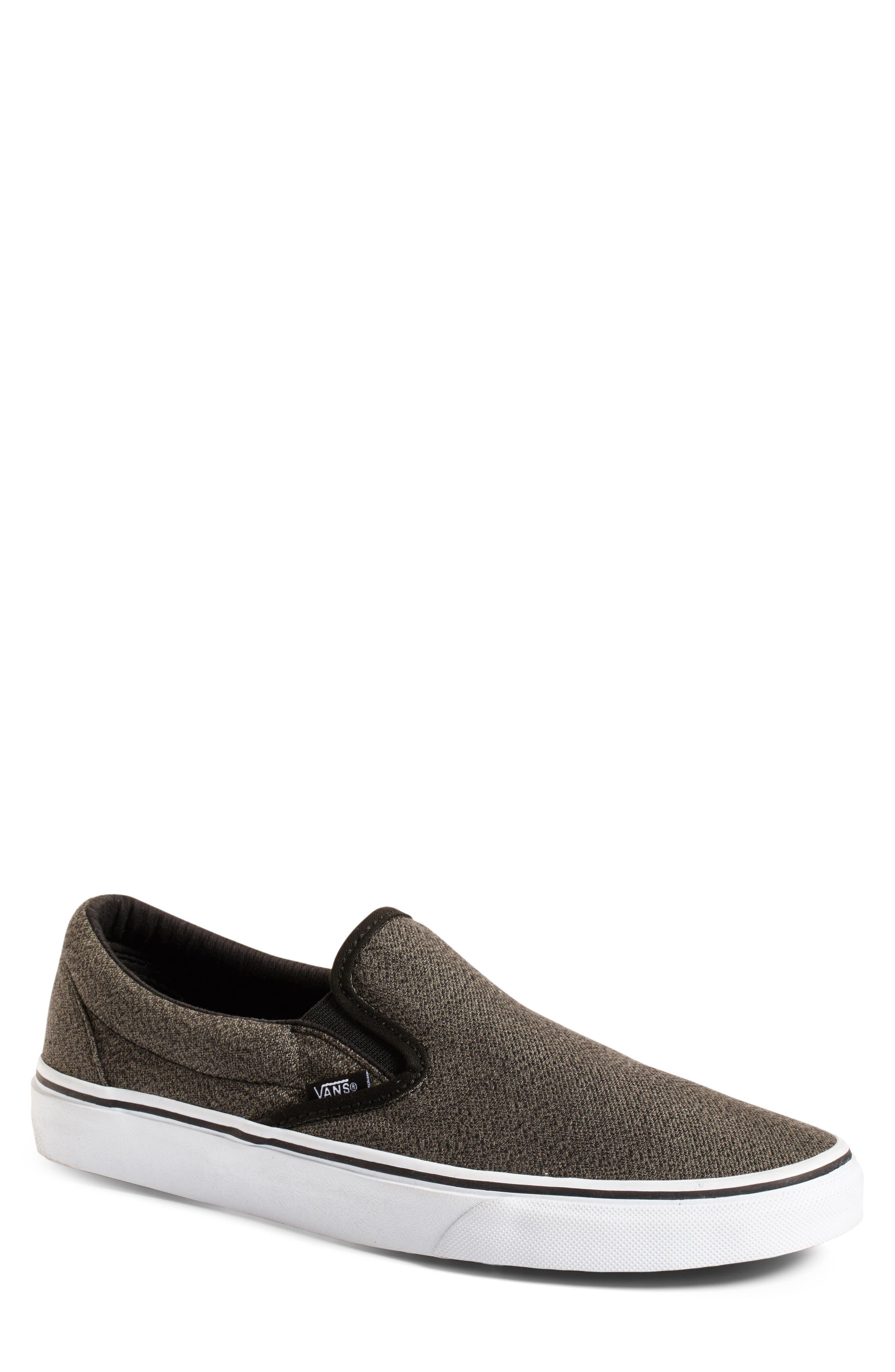 'Classic' Slip-On Sneaker,                         Main,                         color, Black/ True White
