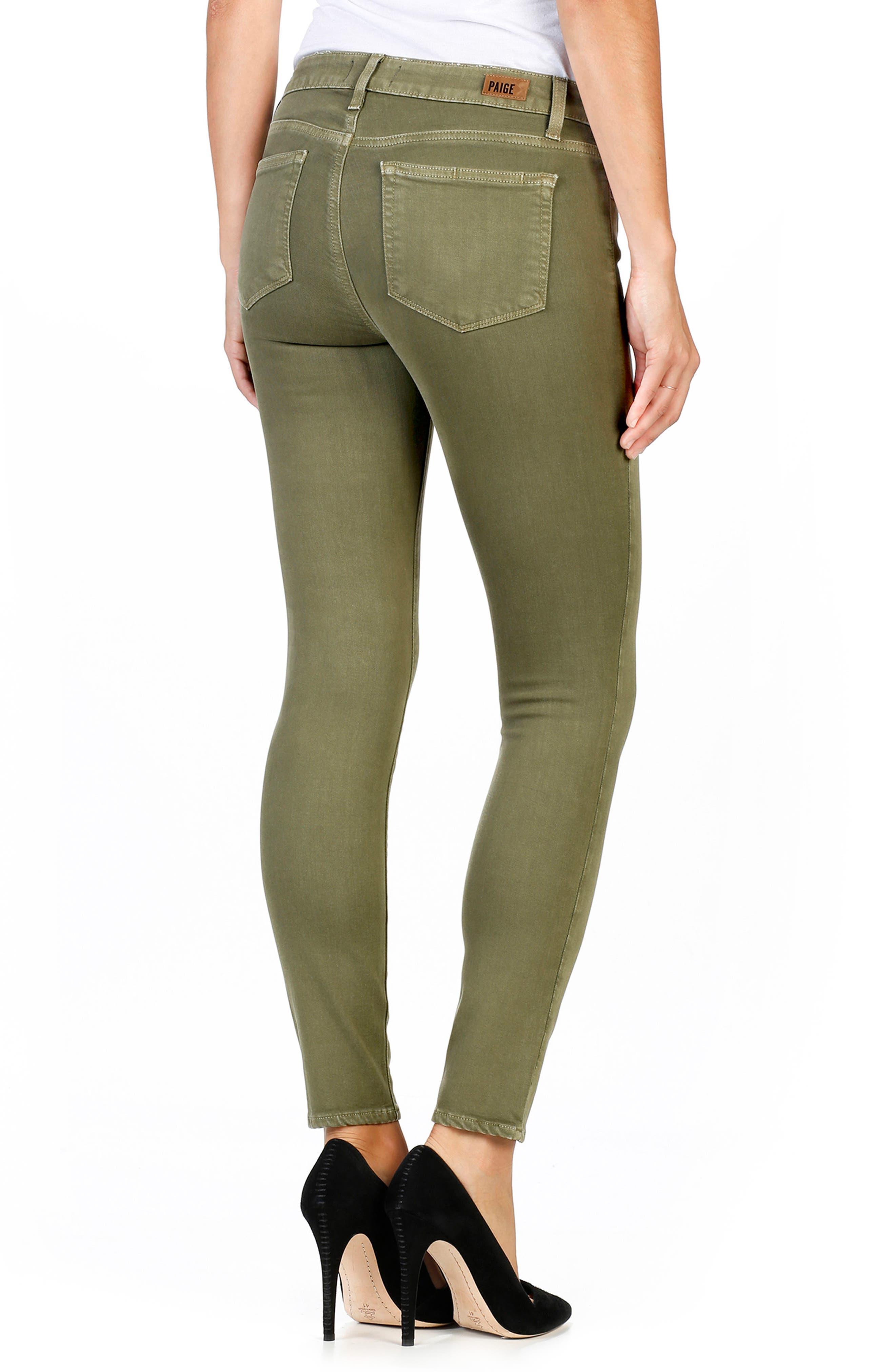 Transcend - Verdugo Ankle Skinny Jeans,                             Alternate thumbnail 2, color,                             Sahara Green
