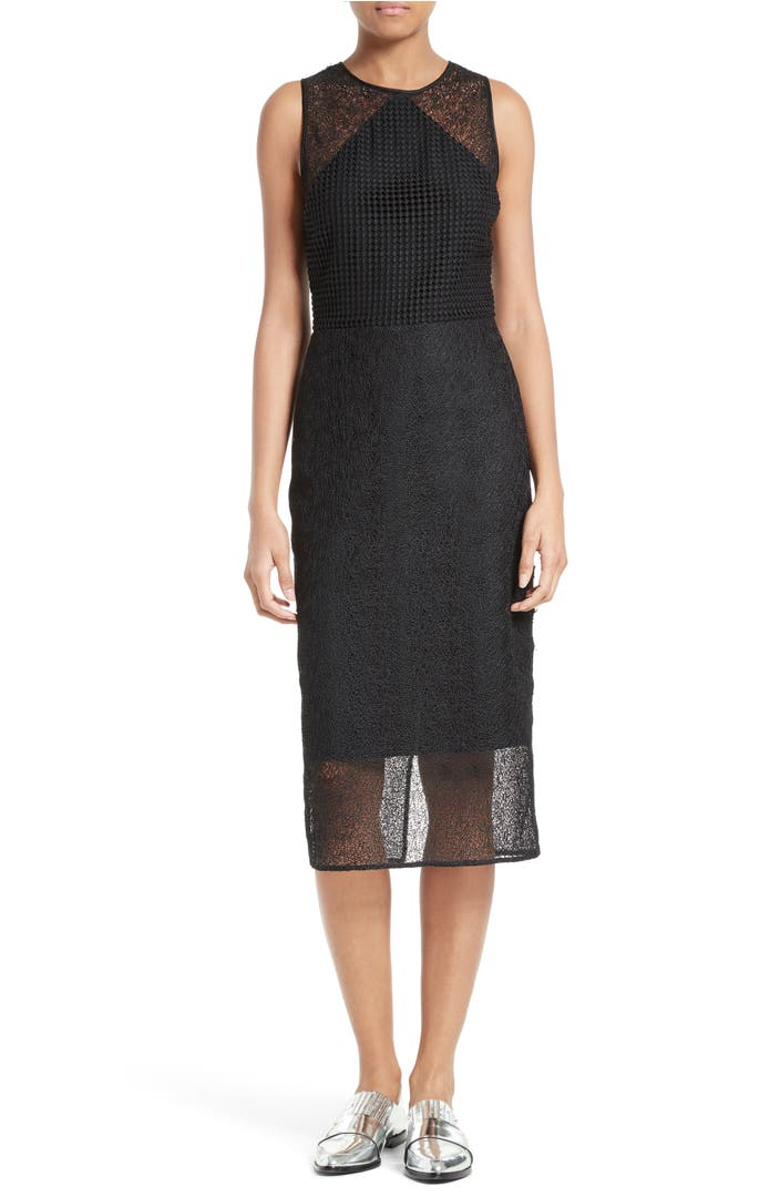 diane von furstenberg mixed lace sheath dress nordstrom. Black Bedroom Furniture Sets. Home Design Ideas