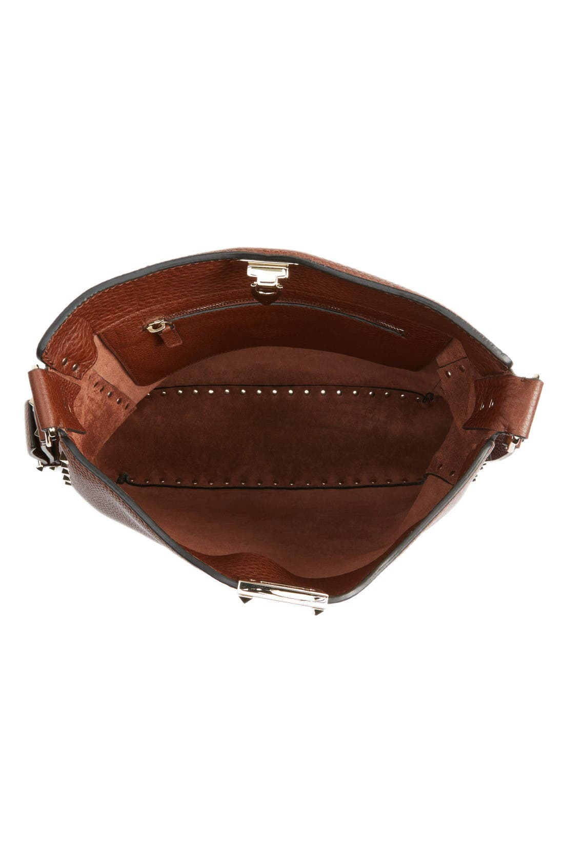 Alternate Image 3  - VALENTINO GARAVANI Vitello Rockstud Leather Hobo