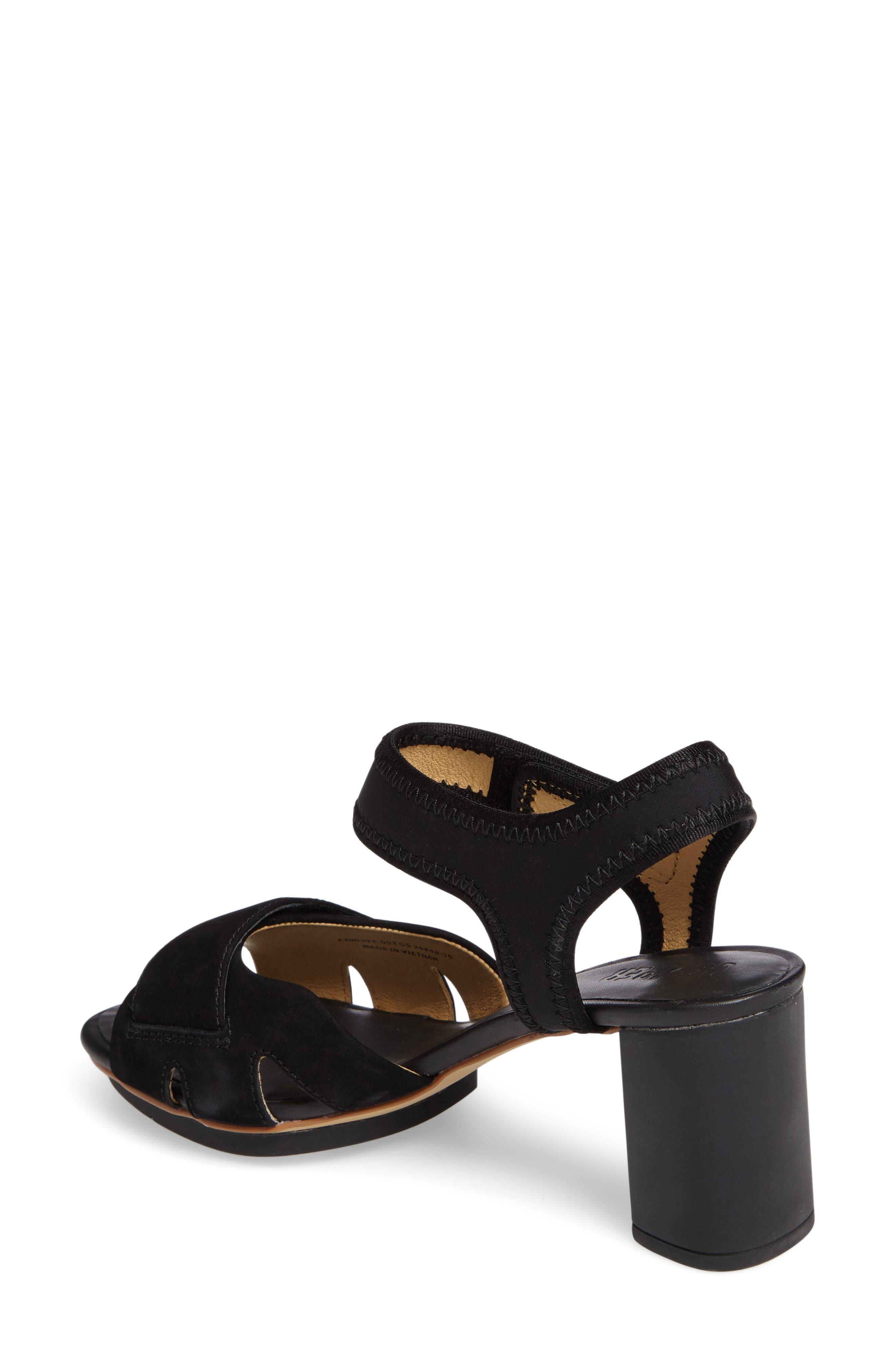 'Myriam' Ankle Strap Platform Sandal,                             Alternate thumbnail 2, color,                             Black/ Black Leather