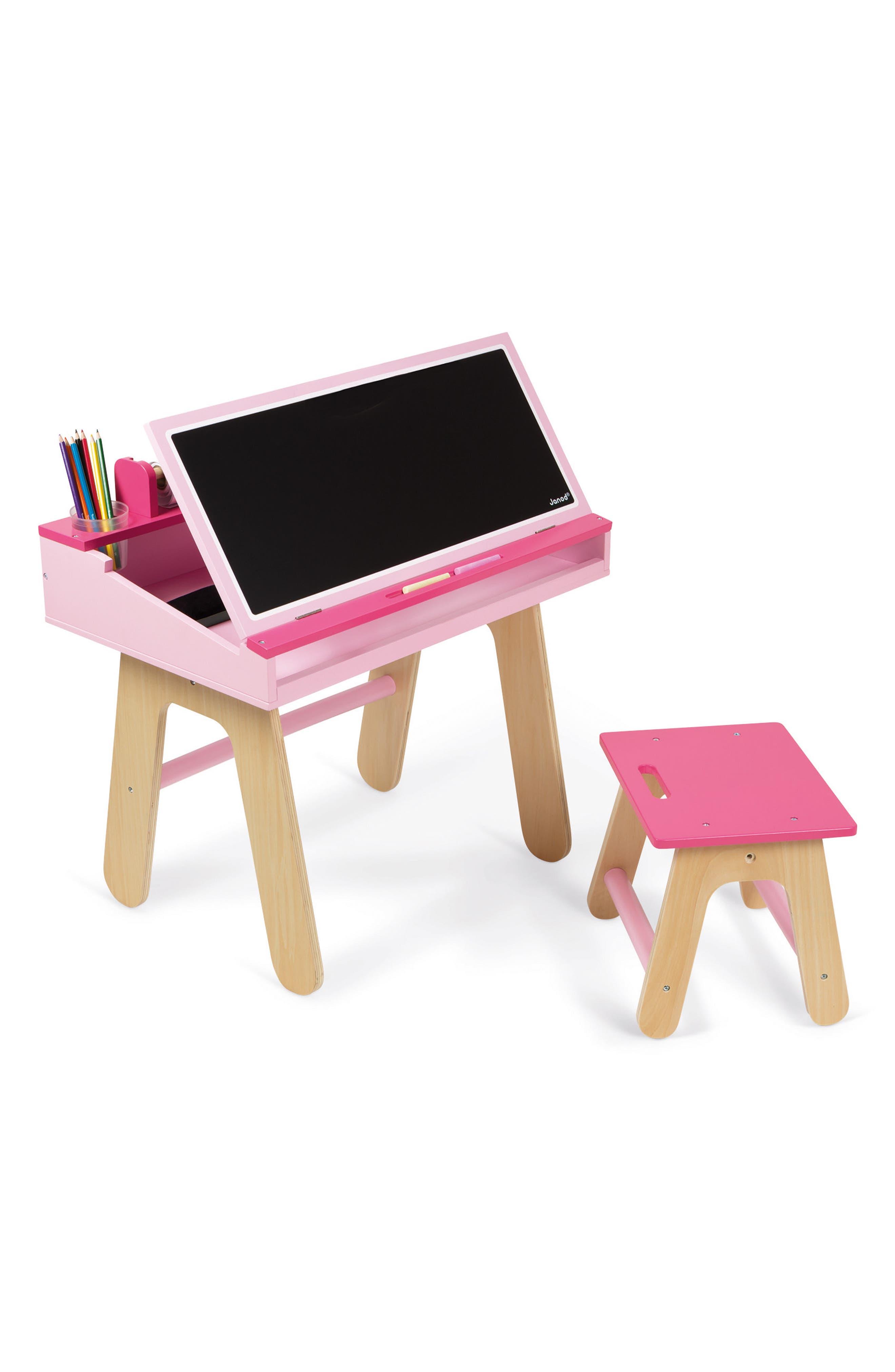 Easel Top Desk & Chair Set,                         Main,                         color, Multi