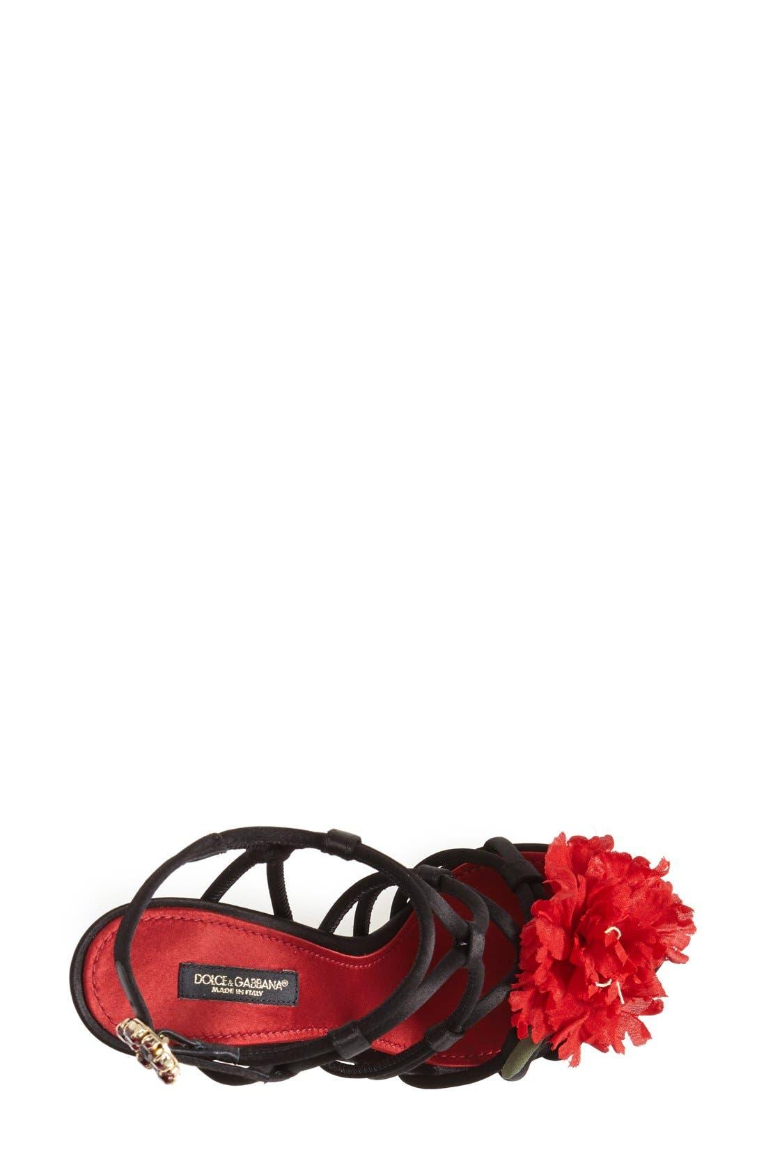 Alternate Image 3  - Dolce&Gabbana Floral Strappy Sandal (Women)