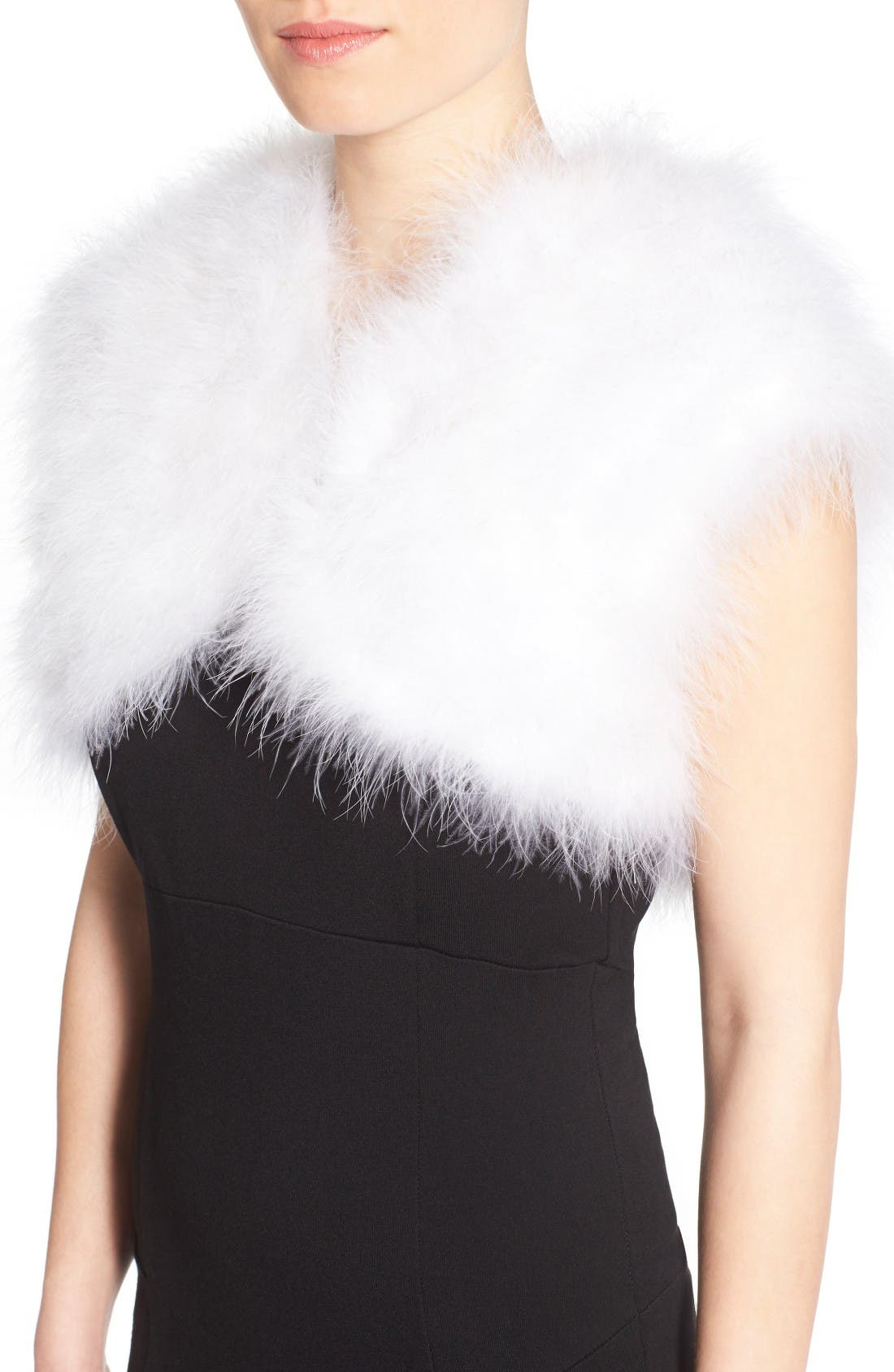 Alternate Image 4  - Badgley Mischka Feather Shrug