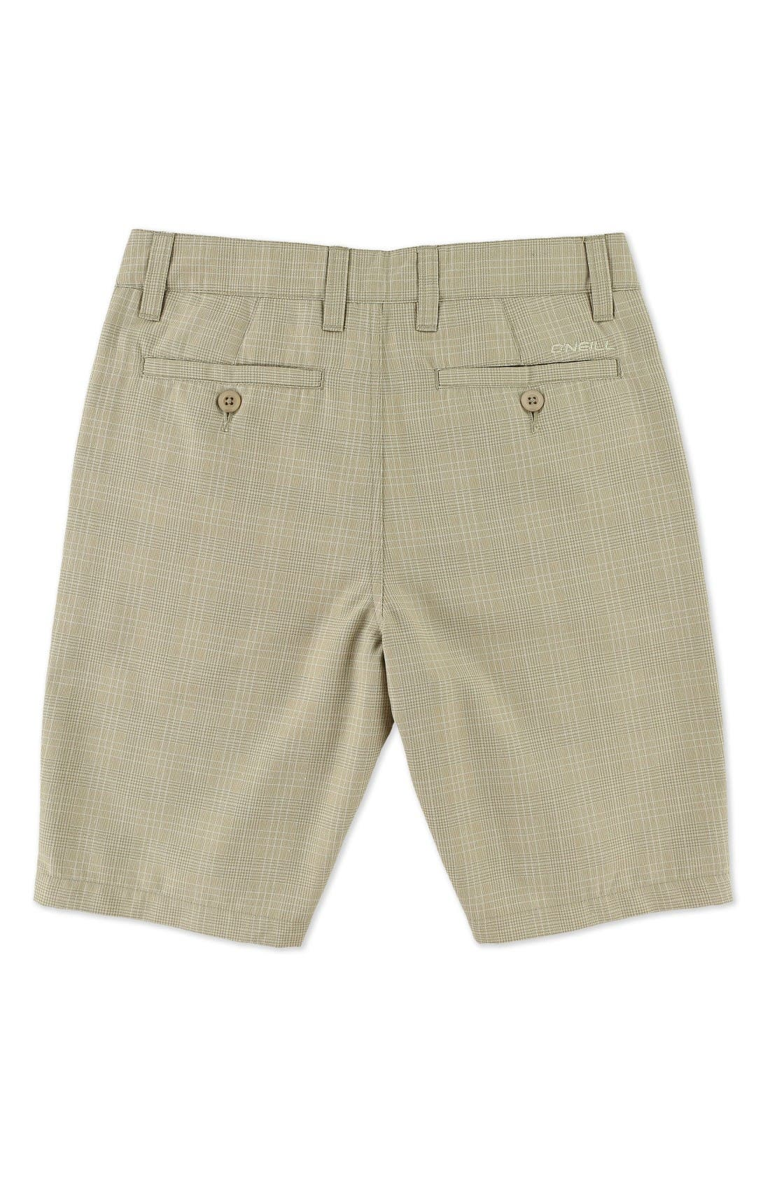 Delta Plaid Chino Shorts,                             Alternate thumbnail 2, color,                             Dark Stone